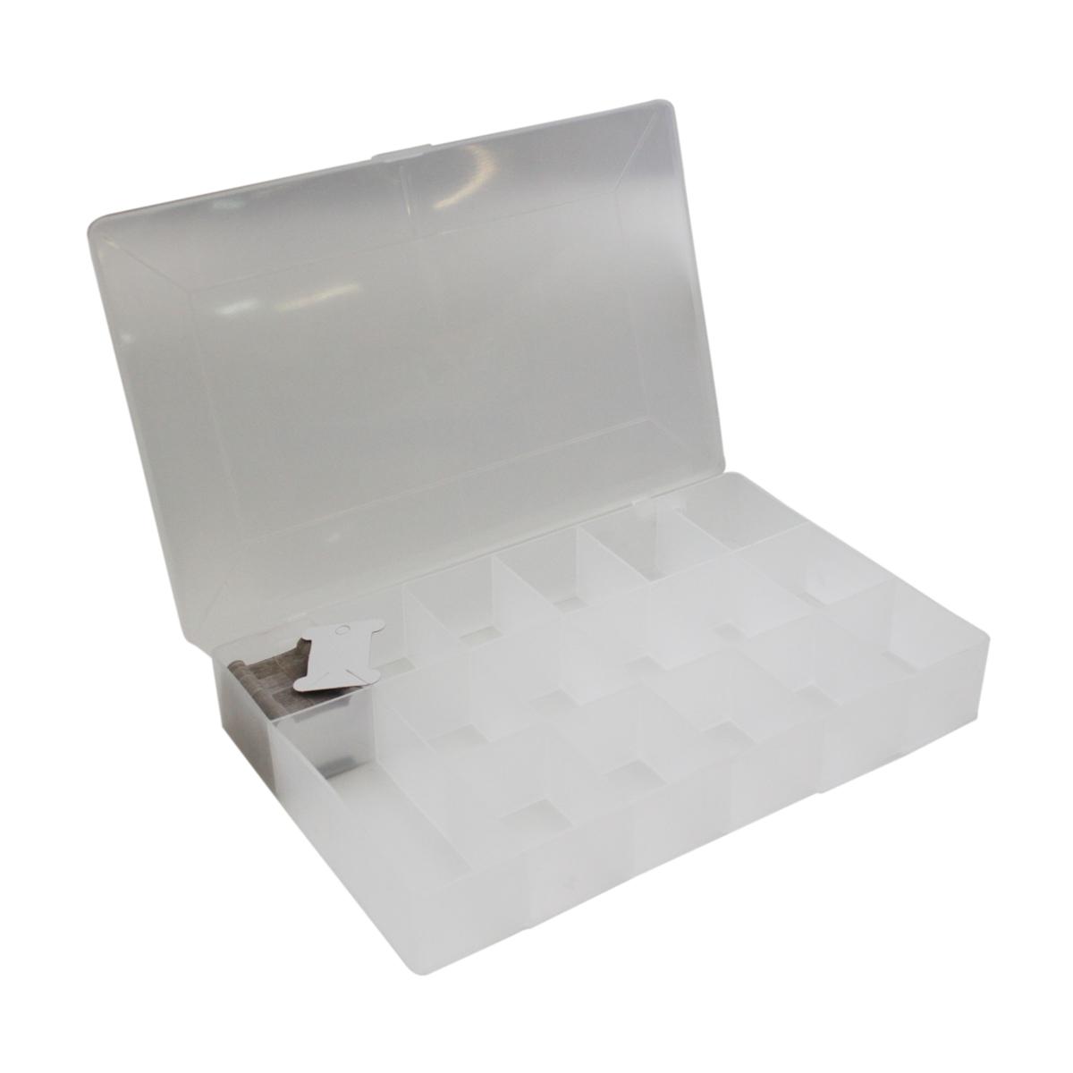 Органайзер для мулине Milword Embroidery Box large7714632Органайзер - идеальное хранилище для ниток мулине. К органайзеру прилагаются 100 картонных бобин для удобства хранения. Размер бабины (ДхВхТ): 4,5 х 6 х 0,1 см.