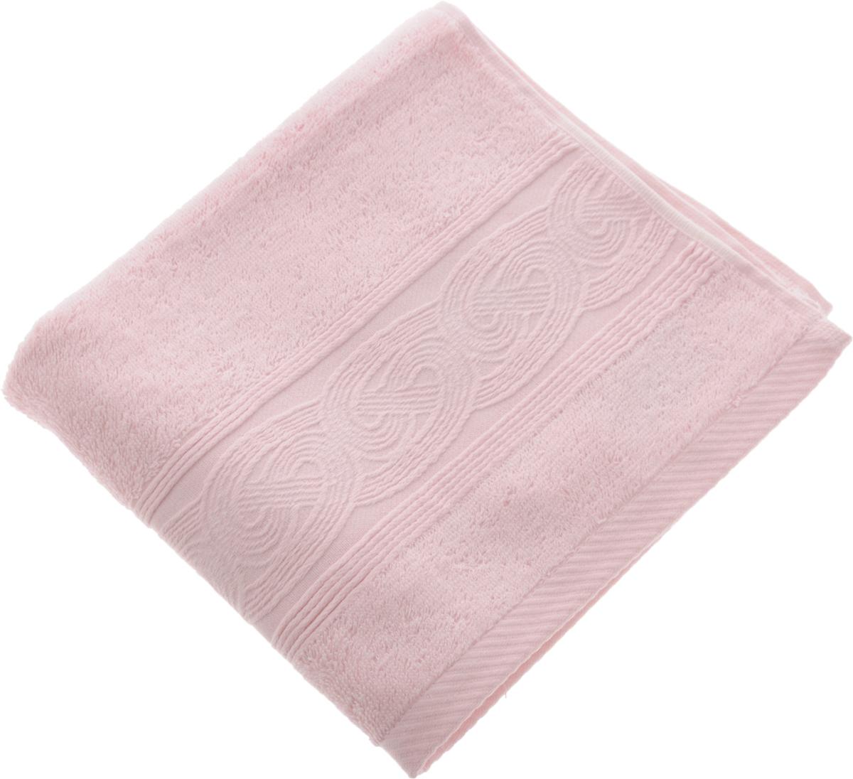 Полотенце Soavita Luxury. Жемчуг, цвет: розовый, 50 х 90 см51726Полотенце Soavita Luxury. Жемчуг выполнено из 50% хлопка и 50% тенселя. Изделие отлично впитывает влагу, быстро сохнет, сохраняет яркость цвета и не теряет форму даже после многократных стирок. Полотенце очень практично и неприхотливо в уходе. Оно создаст прекрасное настроение и украсит интерьер в ванной комнате.