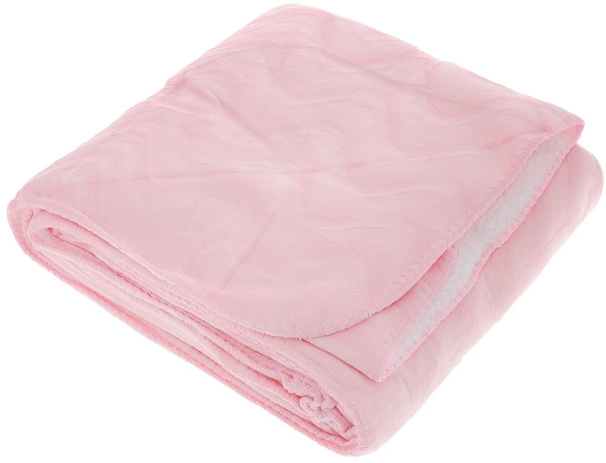 Плед Mona Liza Kleo, цвет: розовый, белый, 150 х 200 см