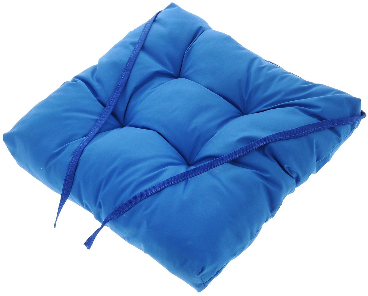 Подушка на стул Eva, объемная, цвет: синий, 40 х 40 смЕ064_синийПодушка Eva, изготовленная из хлопка, прослужит вам не один десяток лет. Внутри - мягкий наполнитель из полиэстера. Стежка надежно удерживает наполнитель внутри и не позволяет ему скатываться. Подушка легко крепится на стул с помощью завязок. Правильно сидеть - значит сохранить здоровье на долгие годы. Жесткие сидения подвергают наше здоровье опасности. Подушка с наполнителем из полиэстера поможет предотвратить многие беды, которыми грозит сидячий образ жизни.