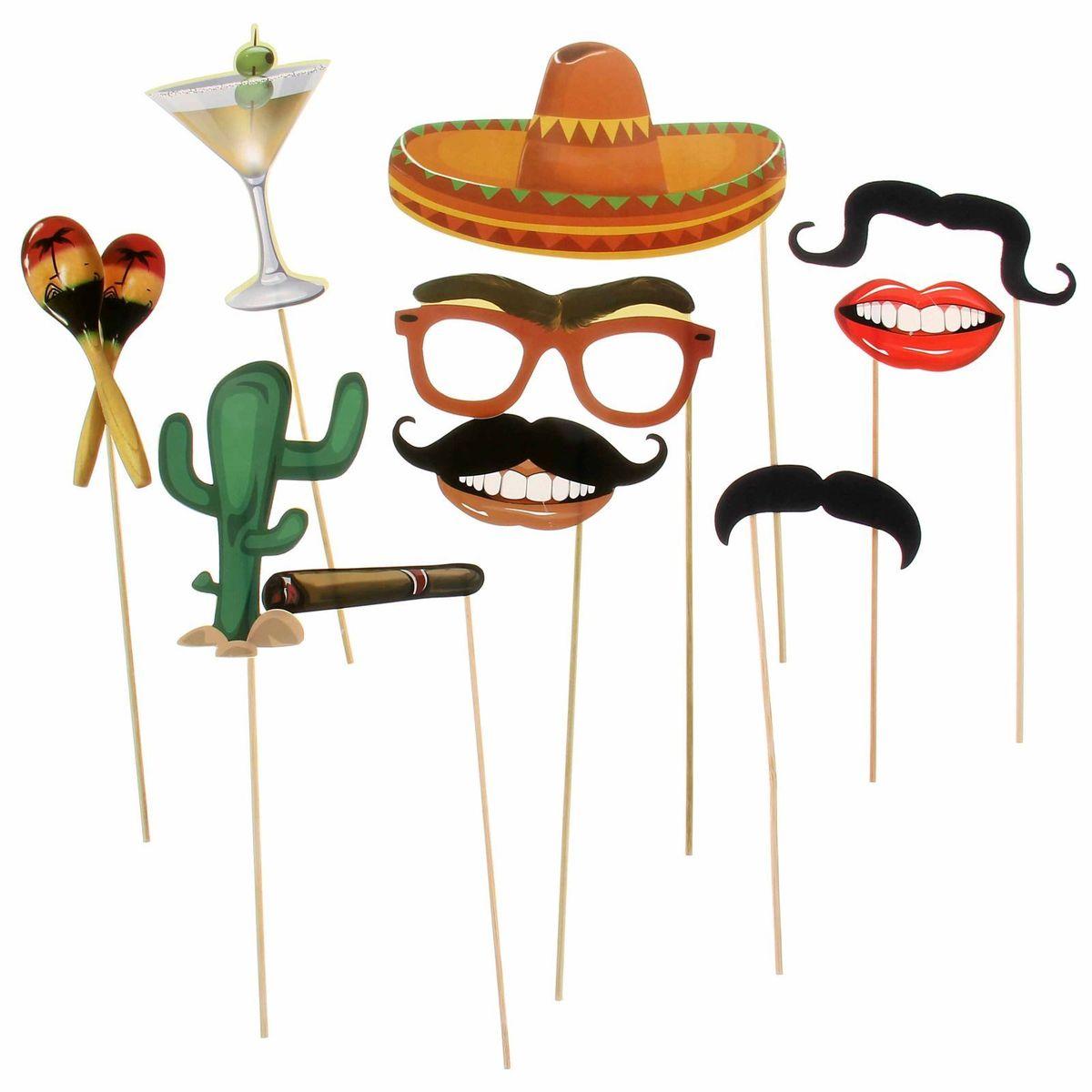 Набор фотобутафории Sima-land Мексика, 10 предметов1145683Невозможно представить нашу жизнь без праздников! Мы всегда ждём и заранее обдумываем, как проведём памятный день, тщательно выбираем подарки и аксессуары, ведь именно они создают и поддерживают нужный настрой.