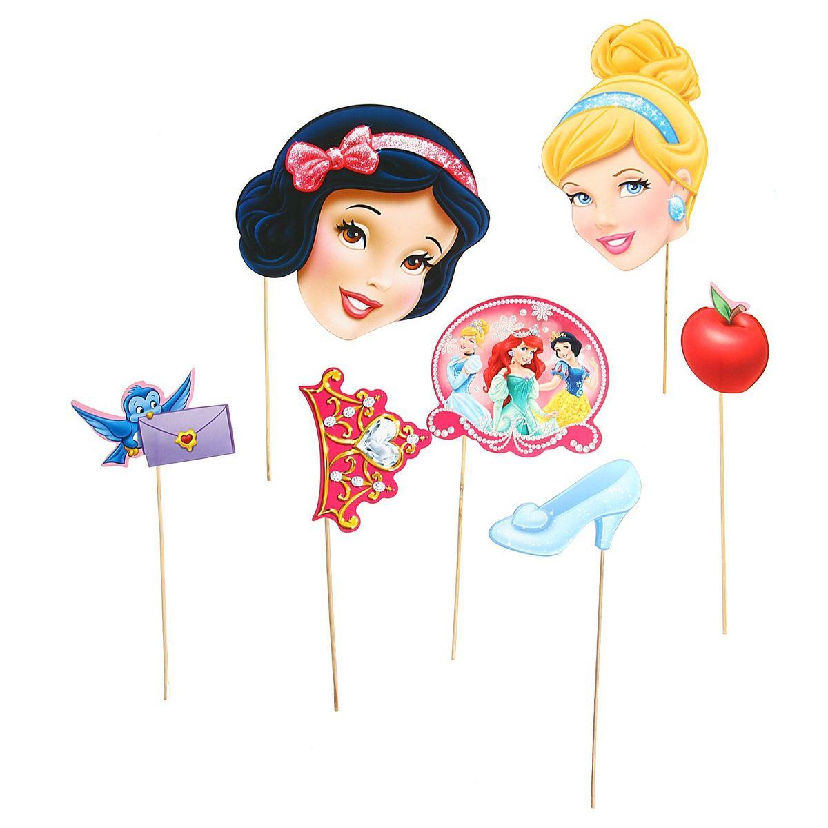 Набор фотобутафории Disney Принцессы, 7 предметов1182236Невозможно представить нашу жизнь без праздников! Мы всегда ждем и предвкушаем их, обдумываем, как проведем памятный день, тщательно выбираем подарки и аксессуары, ведь именно они создают и поддерживают праздничный настрой. Аксессуары для фотосессии на палочке - это отличный выбор, который привнесет атмосферу праздника в ваш дом!
