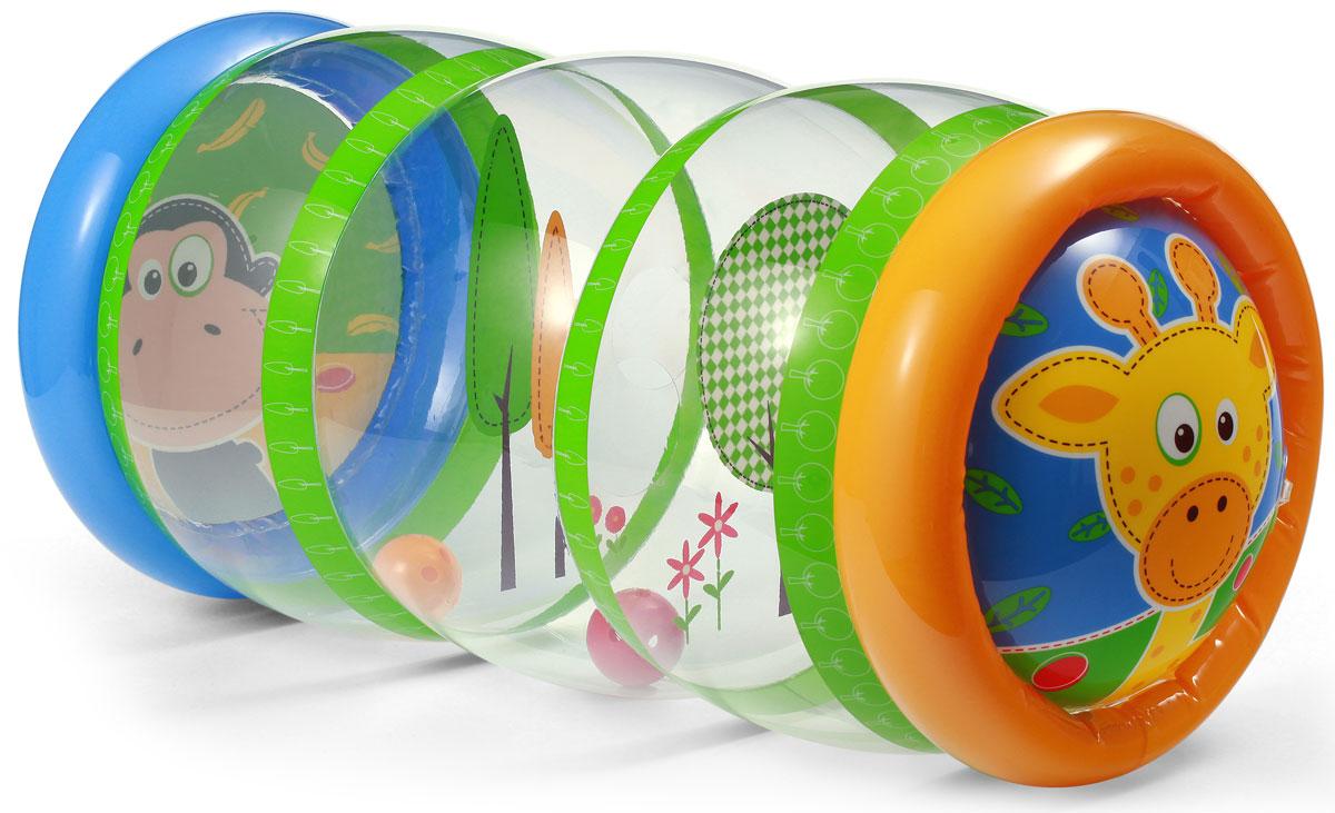 BabyOno Развивающая игрушка Гимнастика малыша896Надувная развивающая игрушка BabyOno Гимнастика малыша с гремящими шариками непременно понравится вашему малышу. Развивающая игрушка помогает ребенку на важных этапах развития двигательных навыков (умение сидеть, ползать, вставать), благодаря чему развивает двигательную координацию и чувство равновесия. Внутри игрушки находятся привлекательные изображения и отделения, способствующие играм с перемещением шариков между отделениями. Игрушка изготовлена из безопасных, прочных и нетоксичных материалов. Идеальна в играх дома и на воздухе, округлые формы обеспечивают безопасность во время игры. Игрушка поставляется в сдутом виде. Насос в комплект не входит. Товар сертифицирован.