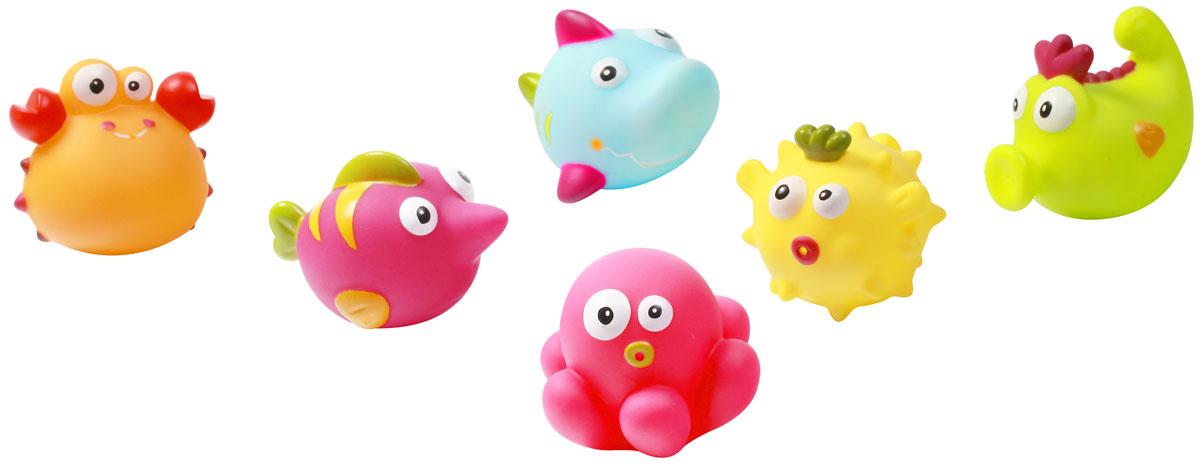 BabyOno Набор игрушек для ванной Подводный мир Море 6 шт532_крабС набором игрушек для ванной BabyOno Подводный мир Море принимать водные процедуры станет еще веселее и приятнее. В набор входят 6 игрушек в виде обитателей морских глубин. Игрушки могут брызгать водой. Набор доставит ребенку большое удовольствие и поможет преодолеть страх перед купанием. Игрушки для ванной способствуют развитию воображения, цветового восприятия, тактильных ощущений и мелкой моторики рук. Товар сертифицирован.