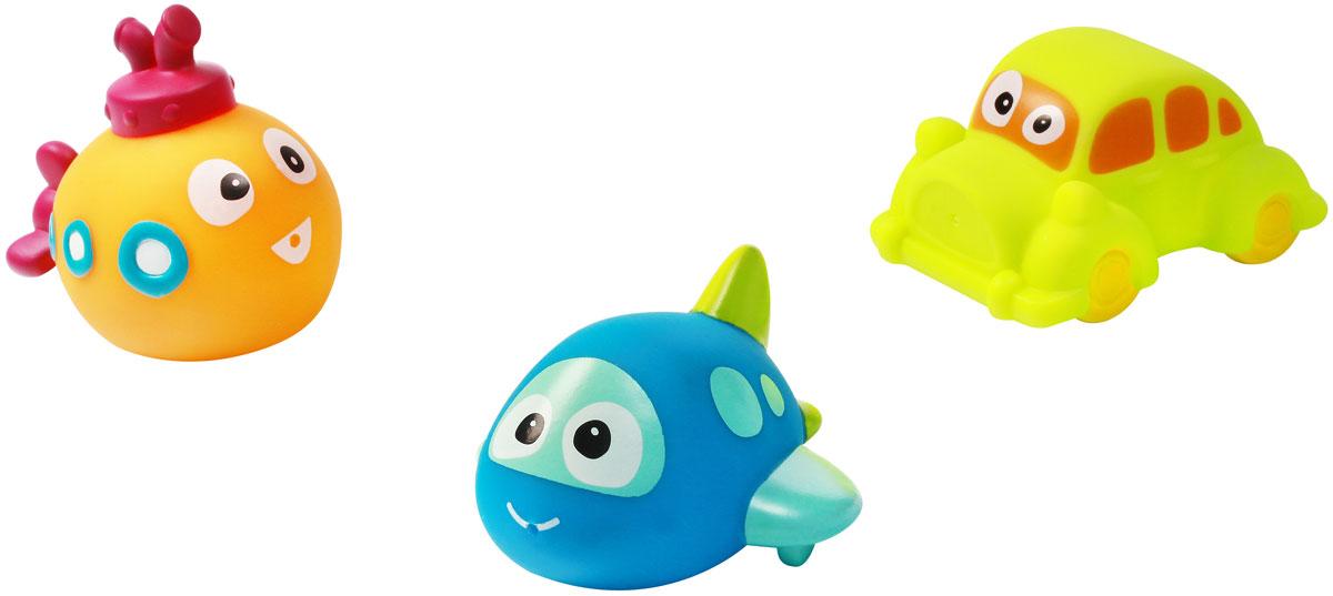 BabyOno Набор игрушек для ванной Техника 3 шт531_оранжевый, голубой, салатовыйС набором игрушек для ванной BabyOno Техника принимать водные процедуры станет еще веселее и приятнее. В набор входят 3 игрушки в виде машинки, самолетика и подводной лодки. Игрушки могут брызгать водой. Набор доставит ребенку большое удовольствие и поможет преодолеть страх перед купанием. Игрушки для ванной способствуют развитию воображения, цветового восприятия, тактильных ощущений и мелкой моторики рук. Товар сертифицирован.