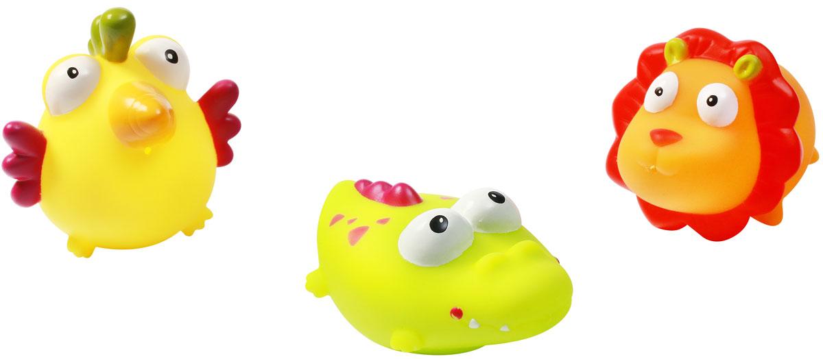 BabyOno Набор игрушек для ванной Джунгли 3 шт531Набор игрушек для ванной BabyOno Джунгли включает в себя три игрушки - крокодила, льва, птичку. Привлекательные формы и интенсивные цвета обязательно вызовут интерес у ребенка во время купания, благодаря чему ежедневный уход становится для него долгожданной игрой. Игрушки стимулируют развитие воображения и мануальных способностей, а также дают ребенку возможность наблюдать за поведением предметов в воде. Игрушки плавают, а после наполнения водой плюются, вызывая у ребенка еще большую радость. Товар сертифицирован.