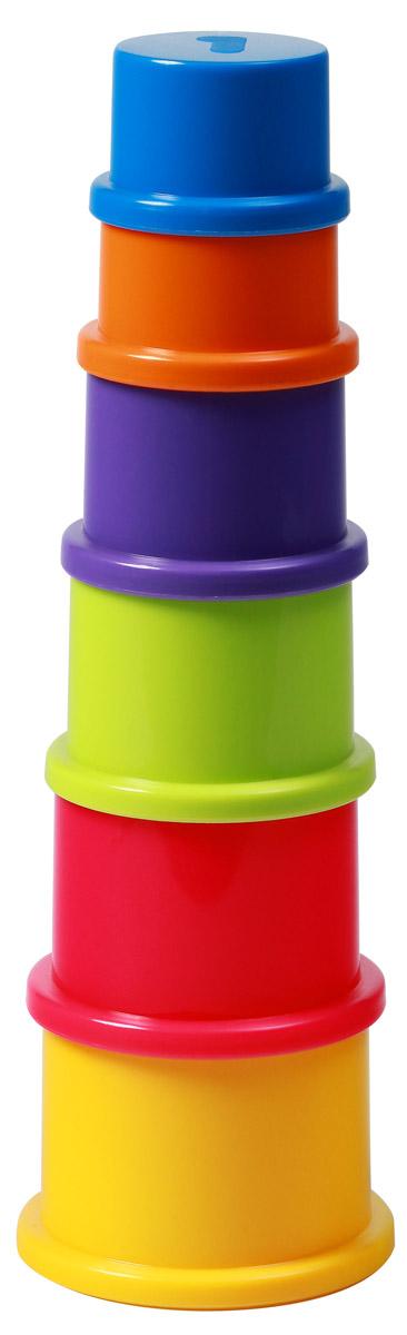 BabyOno Пирамидка Цифры1385Пирамидка BabyOno Цифры - это развивающая игрушка для малышей. В исходном виде представляет собой шесть разноцветных стаканчиков, из которых собирается небольшая объемная пирамидка. Игрушка знакомит малыша с основными цветами, тренирует моторику и пространственное мышление, знакомит с понятиями больше-меньше. Игрушка изготовлена из безопасных и прочных материалов. Для детей от 9 месяцев.