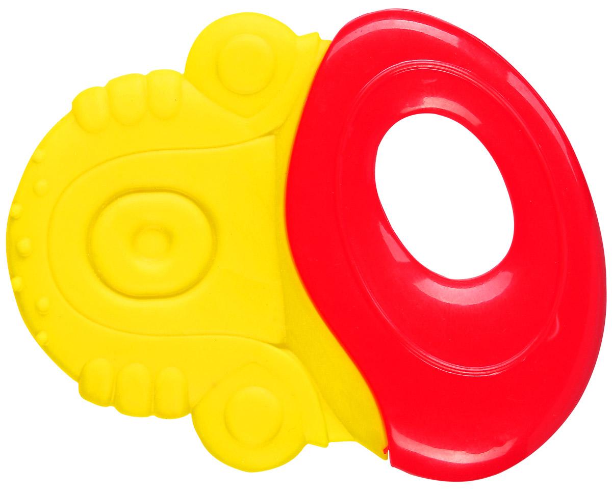 BabyOno Прорезыватель-погремушка цвет желтый красный1383_желтый, красныйПрорезыватель-погремушка BabyOno - незаменимый аксессуар при прорезывании зубов. Прорезыватель имеет возможность охлаждения в холодильнике. Эластичный материал с волнистой структурой идеально массирует десны ребенка, а разнородная поверхность развивает чувство осязания. Прорезыватель также обладает функцией погремушки. Погремушка учит различать силу звука. Прорезыватель BabyOno очень легкий, соответствует по размеру маленьким ручкам и рту ребенка. Изготовлен из прочных и безопасных материалов. Не содержит бисфенол А. Товар сертифицирован.