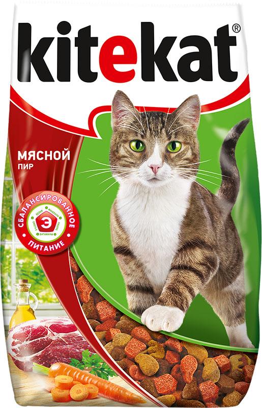 Корм сухой для кошек Kitekat мясной пир, 800 г40428