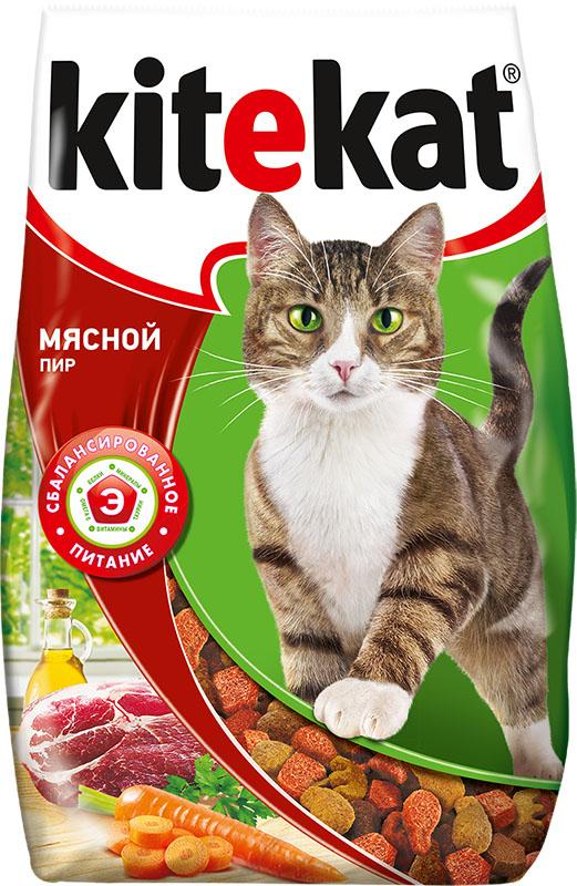 Корм сухой для кошек Kitekat мясной пир, 1,9 кг40433