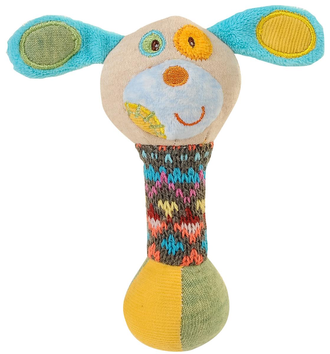 BabyOno Игрушка-пищалка Маленькая собачка1251Забавная игрушка-пищалка BabyOno Маленькая собачка поднимет малышу настроение и непременно вызовет улыбку! Игрушка выполнена из мягкого, приятного на ощупь материала различных фактур в виде головы собачки и длинной округлой удобной ножки-держателя. Внутри ножки находится пищалка. Стоит малышу потрясти игрушку, как он услышит забавный звук. Игрушка очень удобна для маленьких детских ручек. Малыш сможет ее держать, трясти, перекладывать из одной ручки в другую. Игрушка-пищалка способствует развитию мышления, координации движений, звукового и цветового восприятия, тактильных ощущений, совершенствует моторику нежных пальчиков малыша. Товар сертифицирован.