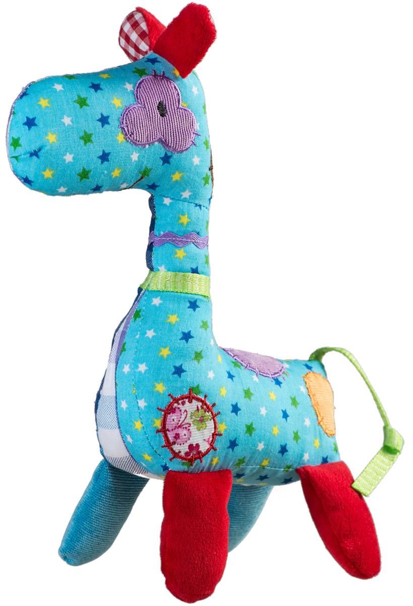 BabyOno Мягкая игрушка-погремушка Жираф1338Мягкая игрушка-погремушка BabyOno Жираф не оставит вашего малыша равнодушным и не позволит ему скучать! Игрушка выполнена в виде разноцветного жирафа с заплатками, внутри которого спрятана сфера, гремящая при тряске. Игрушка удивительно приятна на ощупь. Мягкая игрушка-погремушка поможет ребенку развить зрительное и слуховое восприятия, тактильные ощущения и координацию движений, а милый жизнерадостный образ животного подарит малышу хорошее настроение! Товар сертифицирован.