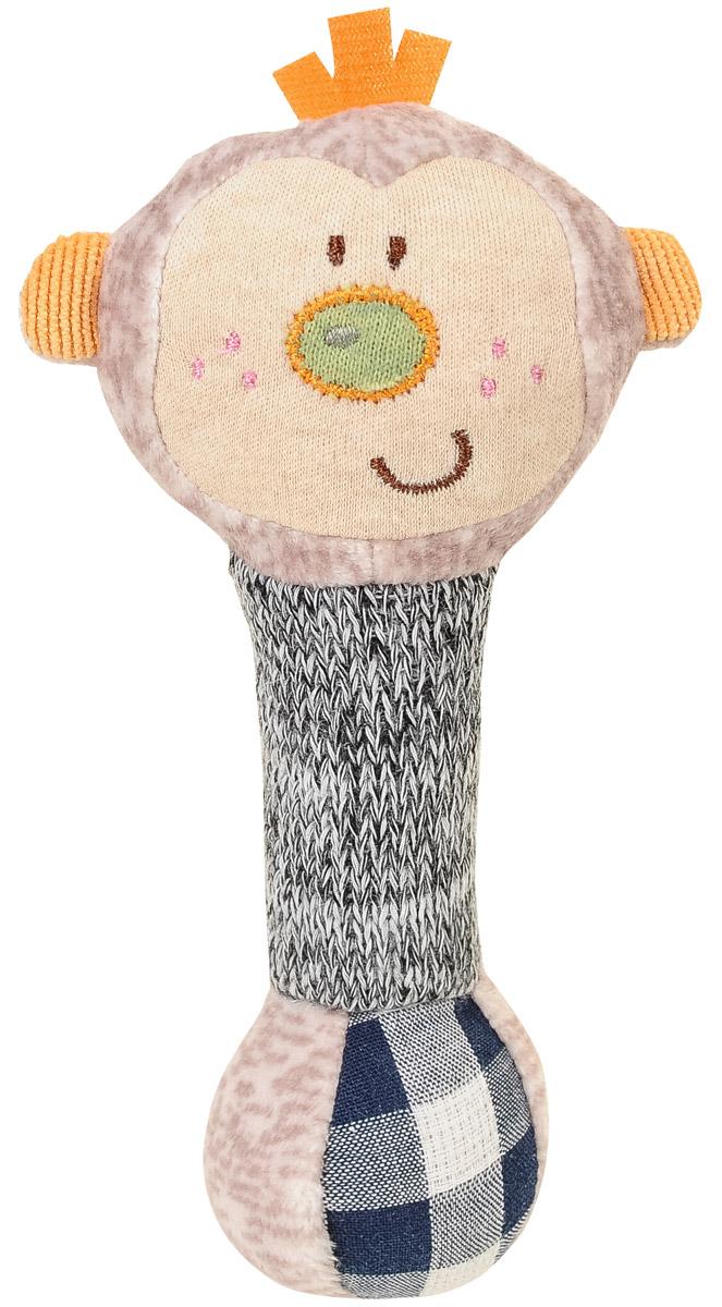 BabyOno Игрушка-пищалка Маленькая обезьянка1248Игрушка-пищалка BabyOno Маленькая обезьянка выполнена из текстильных материалов различных цветов и фактур в виде головы обезьянки и длинной округлой ножки-держателя. Внутри ножки спрятана пищалка. Стоит малышу потрясти игрушку, как он услышит забавный писк. Игрушка очень удобна для маленьких детских ручек. Малыш сможет ее держать, трясти, перекладывать из одной ручки в другую. Игрушка-пищалка способствует развитию мышления, звукового и цветового восприятия, тактильных ощущений, совершенствует моторику нежных пальчиков малыша. Товар сертифицирован.