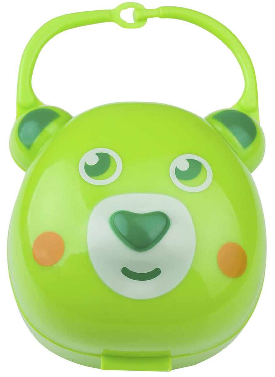 BabyOno Футляр для пустышки Мишка цвет салатовый562Футляр для пустышки BabyOno Мишка эффективно защищает пустышку вашего малыша от загрязнения на прогулке, в поездке и дома. Обеспечивает безопасное и гигиеничное хранение пустышек в сумке, рюкзаке или кармане. Изготовлен из качественных и безопасных материалов. В футляре можно хранить сразу две пустышки. Товар сертифицирован.
