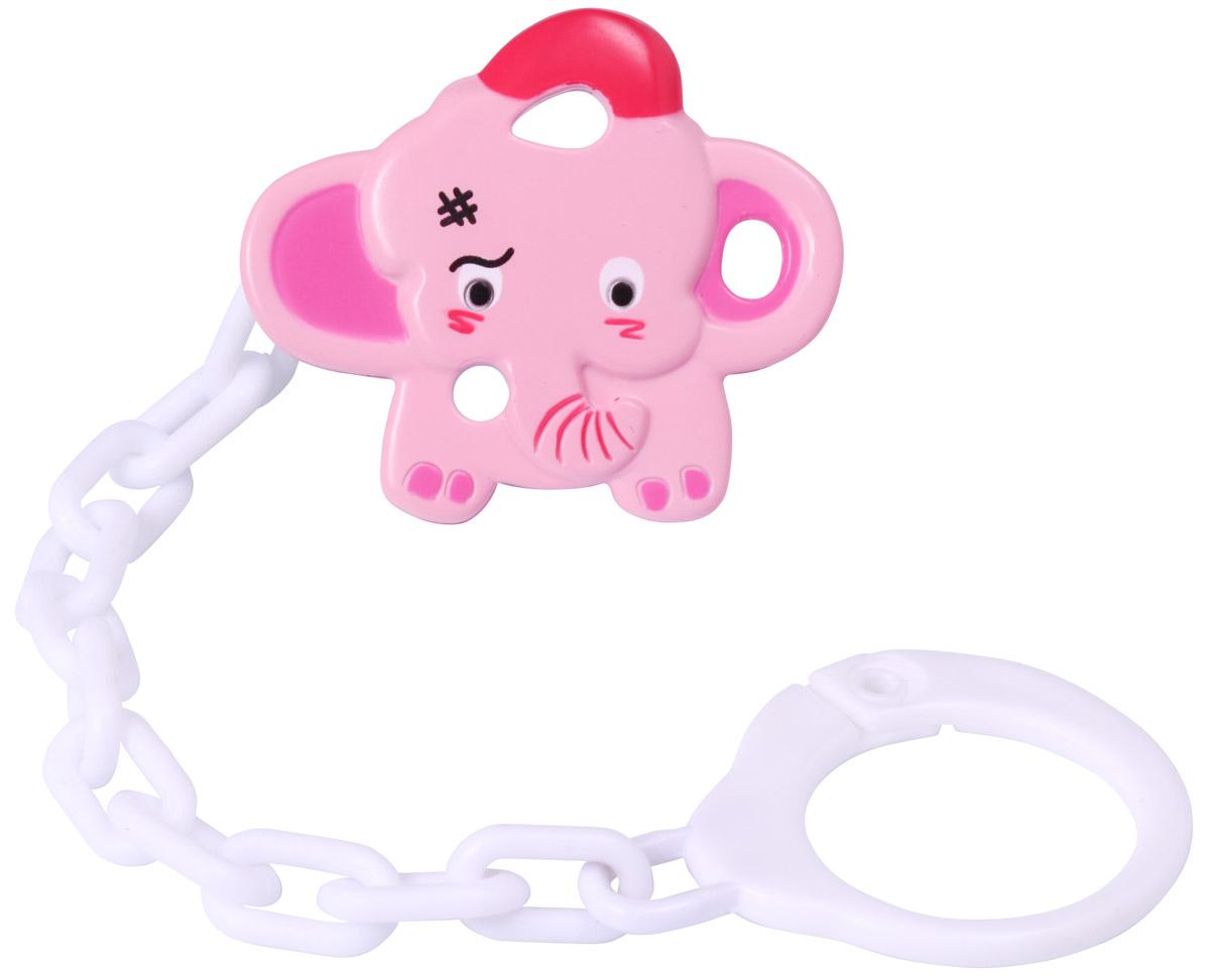 BabyOno Клипса-держатель для пустышки Слоненок