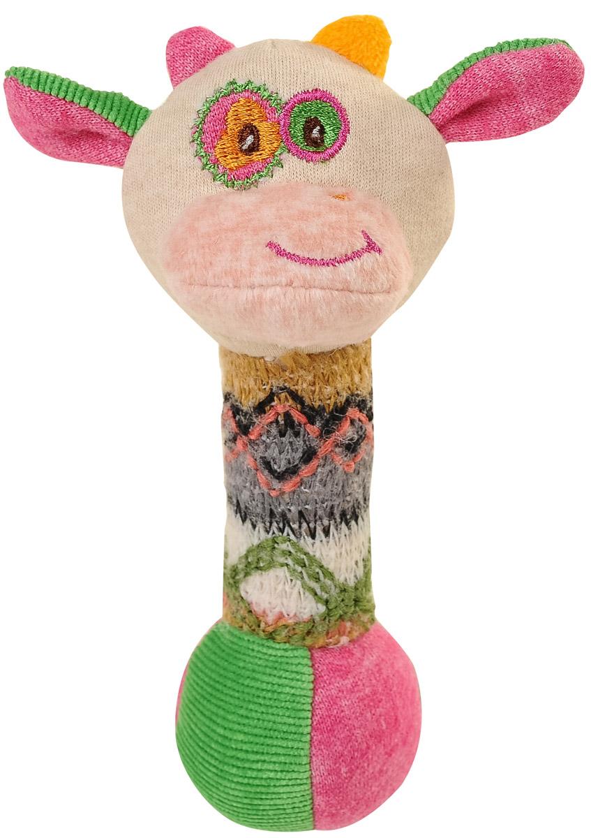 BabyOno Игрушка-пищалка Маленькая коровка1249Забавная игрушка-пищалка BabyOno Маленькая коровка поднимет вашему малышу настроение и непременно вызовет улыбку! Игрушка выполнена из мягкого, приятного на ощупь материала различных фактур в виде головы коровы и длинной округлой удобной ножки-держателя. Внутри ножки находится пищалка. Стоит малышу потрясти игрушку, как он услышит забавный звук. Игрушка очень удобна для маленьких детских ручек. Малыш сможет ее держать, трясти, перекладывать из одной ручки в другую. Игрушка-пищалка способствует развитию мышления, координации движений, звукового и цветового восприятия, тактильных ощущений, совершенствует моторику нежных пальчиков малыша. Товар сертифицирован.