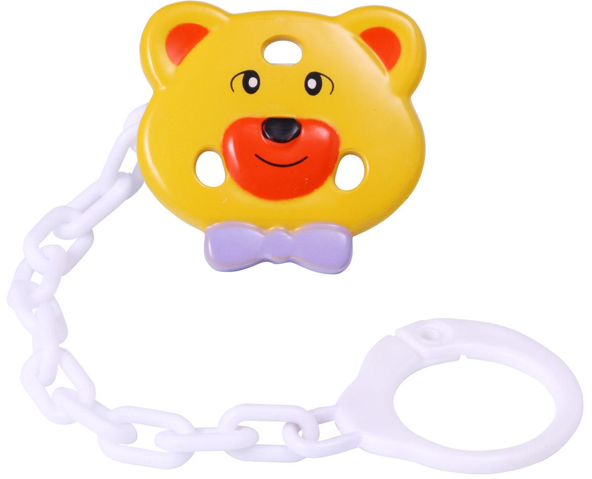 BabyOno Клипса-держатель для пустышки Мишка