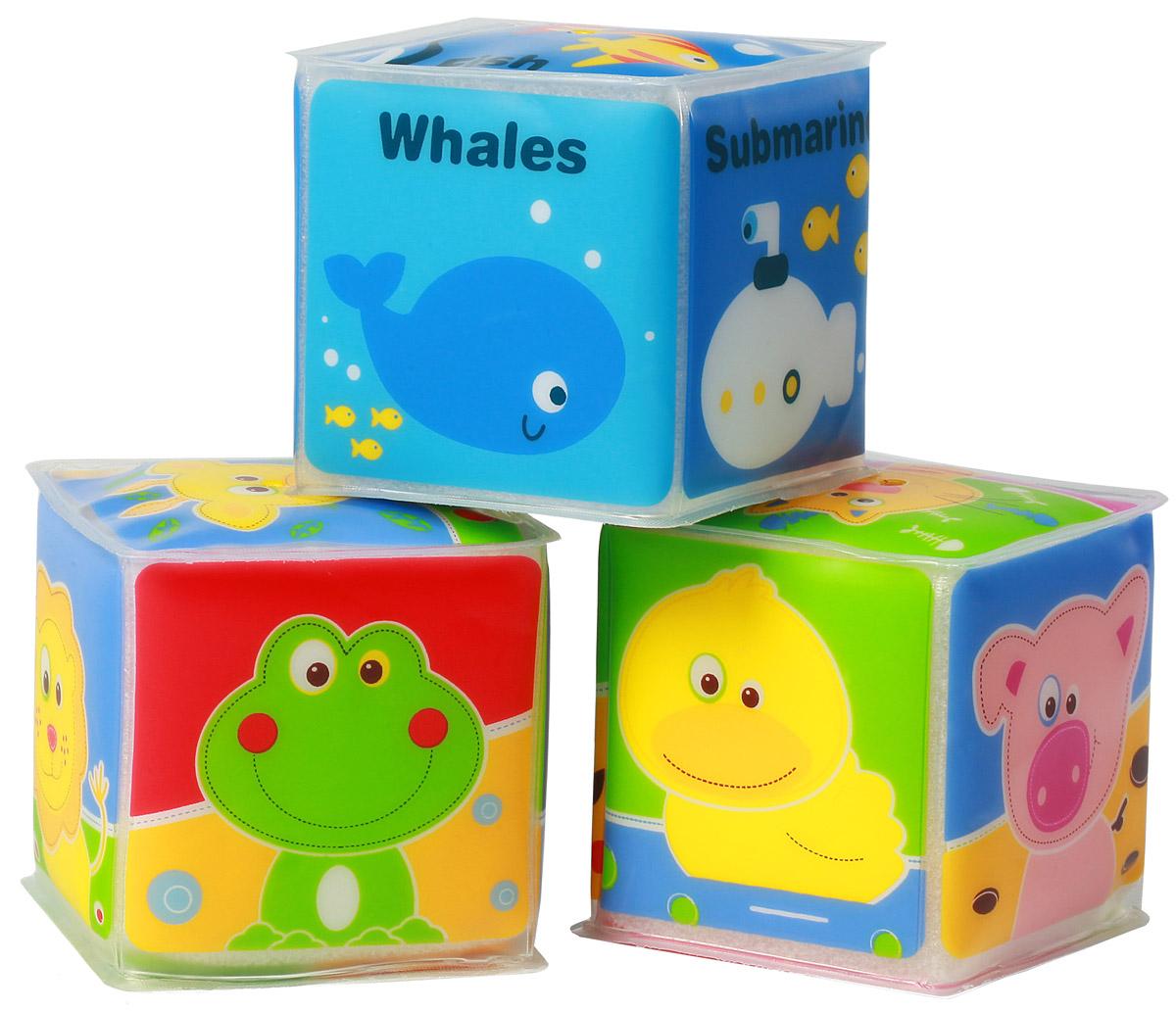 BabyOno Набор кубиков 3 шт894Набор кубиков BabyOno - это набор трех мягких разноцветных кубиков, на каждую грань которых нанесены различные животные. Небольшой размер кубиков подходит для маленьких ручек ребенка. Кубики являются превосходной помощью в изучении слов и цветов, а также в совершенствовании мануальных навыков. Идеально складываются в башни и ряды. Кубики изготовлены из безопасных, прочных и нетоксичных материалов. Товар сертифицирован.