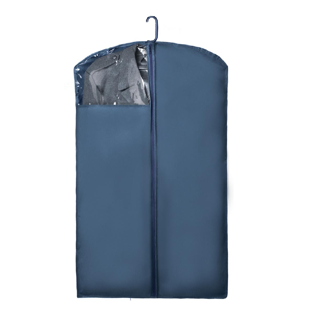 Чехол для верхней одежды Miolla, с окошком, цвет: синий, 100 х 60 смCHL-1-1Чехол для верхней одежды Miolla на застежке-молнии выполнен из высококачественного нетканого материала. Прозрачное полиэтиленовое окошко позволяет видеть содержимое чехла. Подходит для длительного хранения вещей. Чехол обеспечивает вашей одежде надежную защиту от влажности, повреждений и грязи при транспортировке, от запыления при хранении и проникновения моли. Чехол обладает водоотталкивающими свойствами, а также позволяет воздуху свободно поступать внутрь вещей, обеспечивая их кондиционирование. Это особенно важно при хранении кожаных и меховых изделий. Размер чехла: 100 х 60 см.
