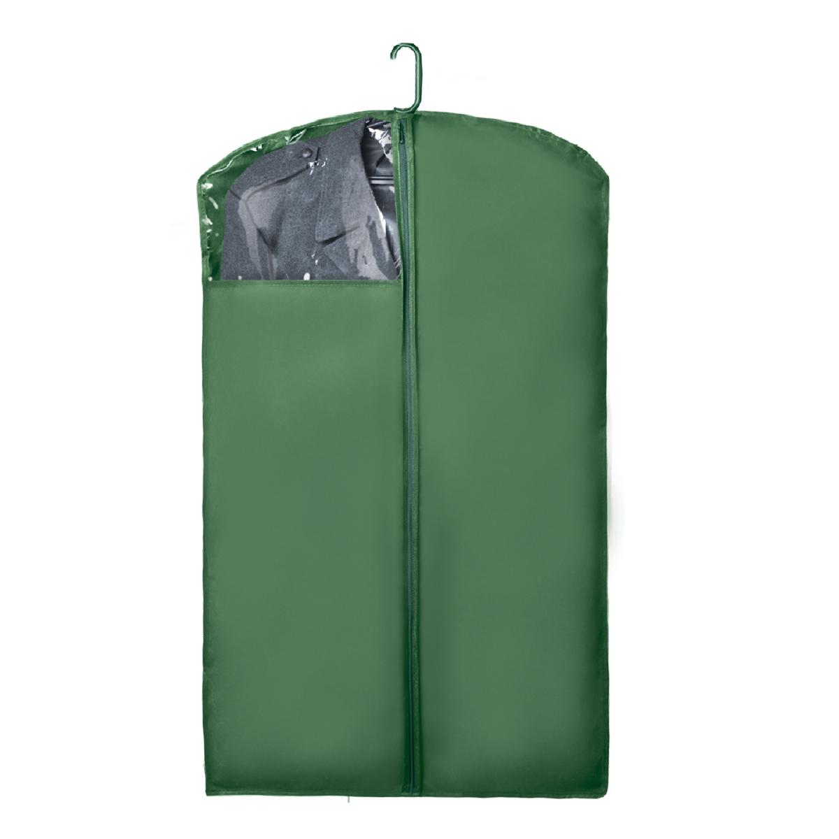 Чехол для верхней одежды Miolla, с окошком, цвет: зеленый, 100 х 60 смCHL-1-2Чехол для верхней одежды Miolla на застежке-молнии выполнен из высококачественного нетканого материала. Прозрачное полиэтиленовое окошко позволяет видеть содержимое чехла. Подходит для длительного хранения вещей. Чехол обеспечивает вашей одежде надежную защиту от влажности, повреждений и грязи при транспортировке, от запыления при хранении и проникновения моли. Чехол обладает водоотталкивающими свойствами, а также позволяет воздуху свободно поступать внутрь вещей, обеспечивая их кондиционирование. Это особенно важно при хранении кожаных и меховых изделий. Размер чехла: 100 х 60 см.