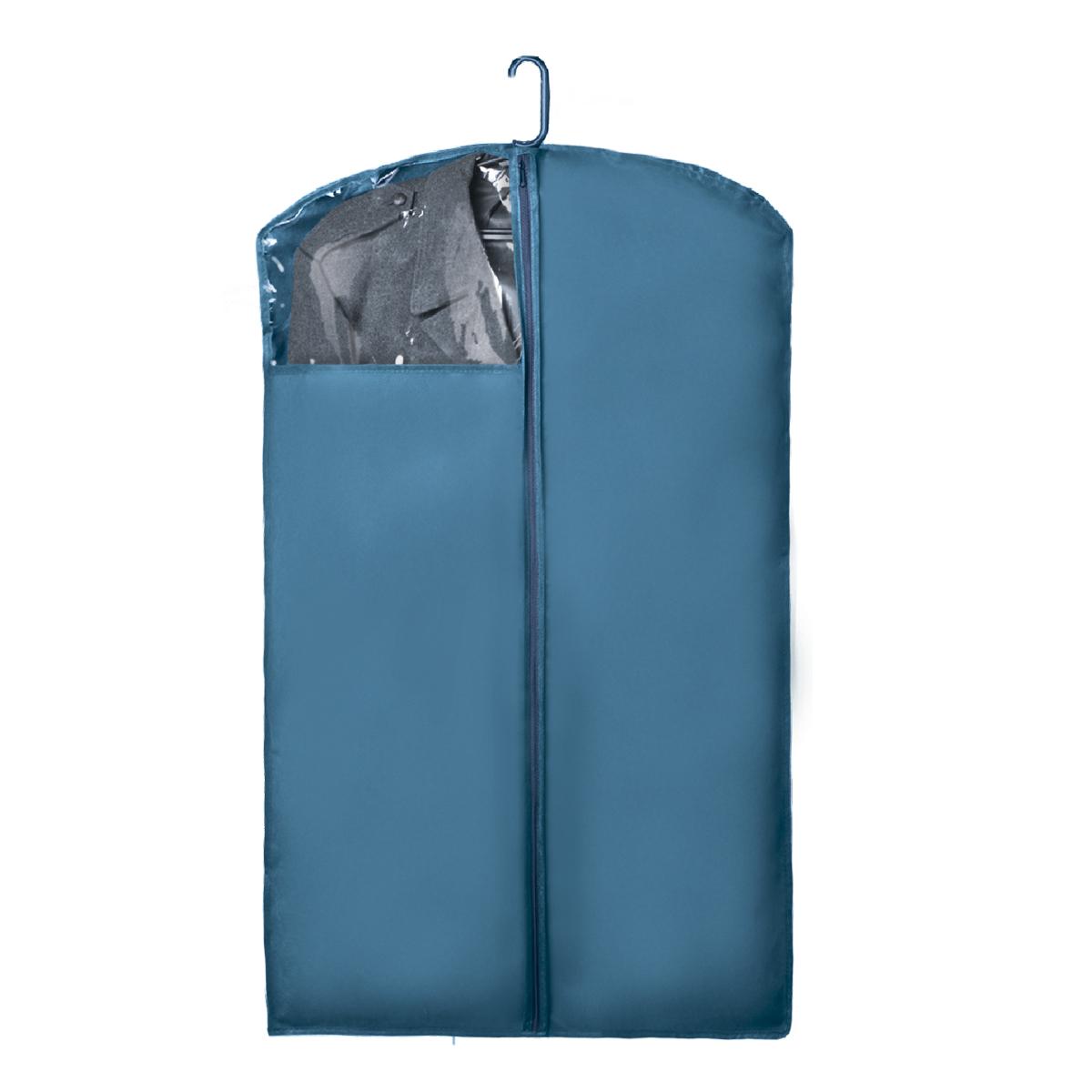 Чехол для верхней одежды Miolla, цвет: голубой, 100 х 60 смCHL-1-3Чехол для верхней одежды 100 x 60 см голубой