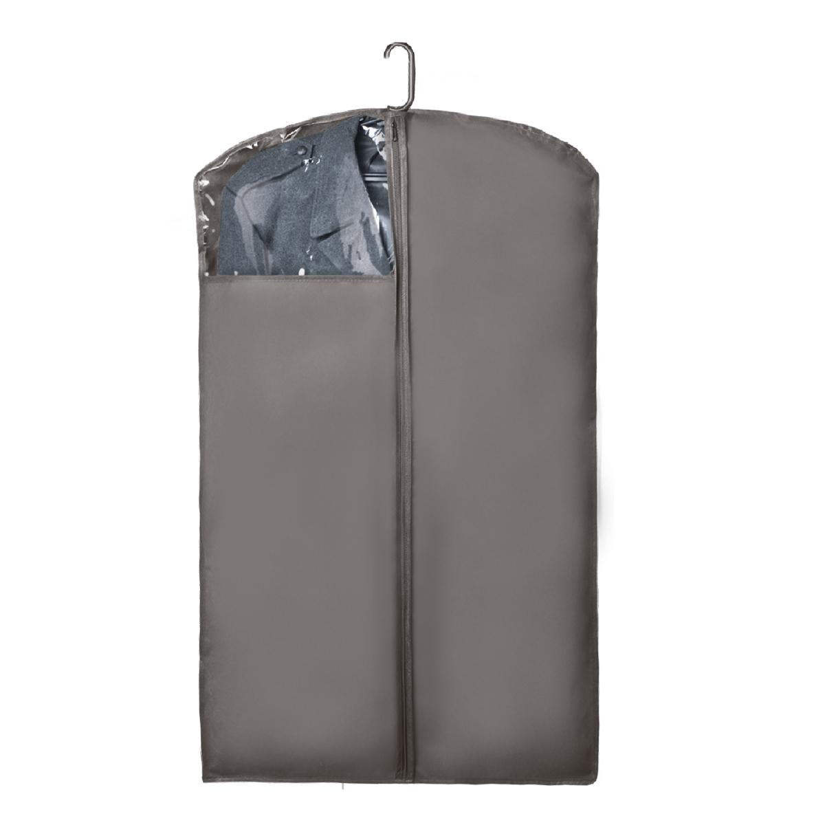 Чехол для верхней одежды Miolla, с окошком, цвет: серый, 100 х 60 смCHL-1-5Чехол для верхней одежды Miolla на застежке-молнии выполнен из высококачественного нетканого материала. Прозрачное полиэтиленовое окошко позволяет видеть содержимое чехла. Подходит для длительного хранения вещей. Чехол обеспечивает вашей одежде надежную защиту от влажности, повреждений и грязи при транспортировке, от запыления при хранении и проникновения моли. Чехол обладает водоотталкивающими свойствами, а также позволяет воздуху свободно поступать внутрь вещей, обеспечивая их кондиционирование. Это особенно важно при хранении кожаных и меховых изделий. Размер чехла: 100 х 60 см.