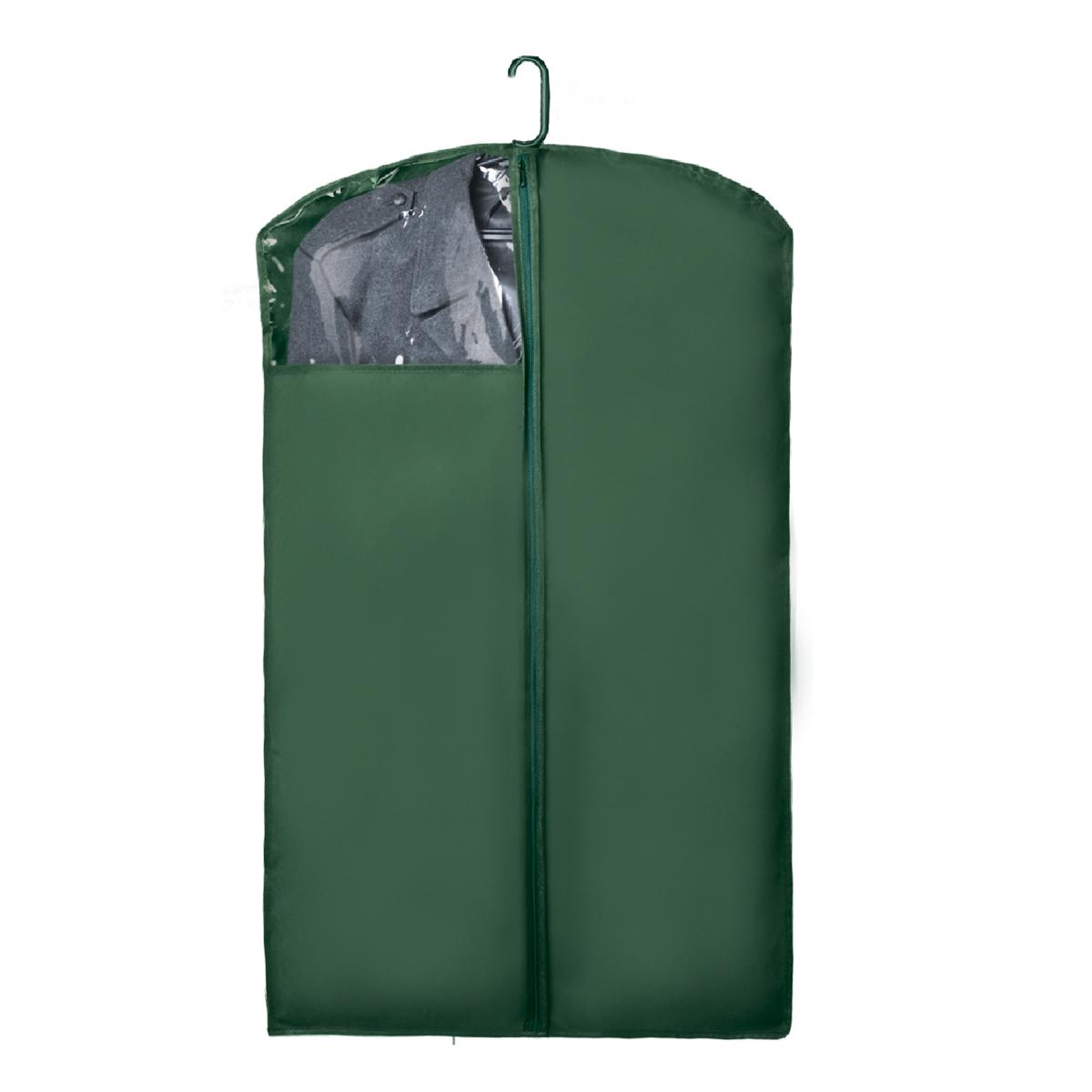 Чехол для верхней одежды Miolla, с окошком, цвет: темно-зеленый, 100 х 60 смCHL-1-6Чехол для верхней одежды Miolla на застежке-молнии выполнен из высококачественного нетканого материала. Прозрачное полиэтиленовое окошко позволяет видеть содержимое чехла. Подходит для длительного хранения вещей. Чехол обеспечивает вашей одежде надежную защиту от влажности, повреждений и грязи при транспортировке, от запыления при хранении и проникновения моли. Чехол обладает водоотталкивающими свойствами, а также позволяет воздуху свободно поступать внутрь вещей, обеспечивая их кондиционирование. Это особенно важно при хранении кожаных и меховых изделий. Размер чехла: 100 х 60 см.