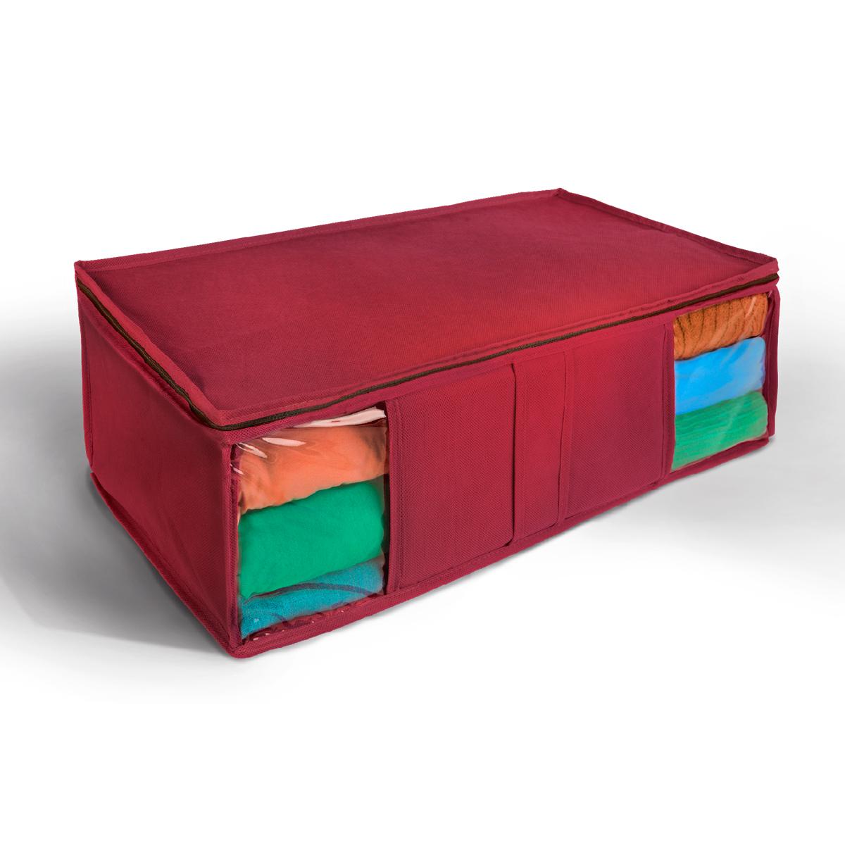 Кофр для хранения Miolla, цвет: зеленый, 60 х 30 х 20 см. CHL-10-4CHL-10-4Ящик текстильный для хранения вещей 60 x 30 x 20 см бордовый