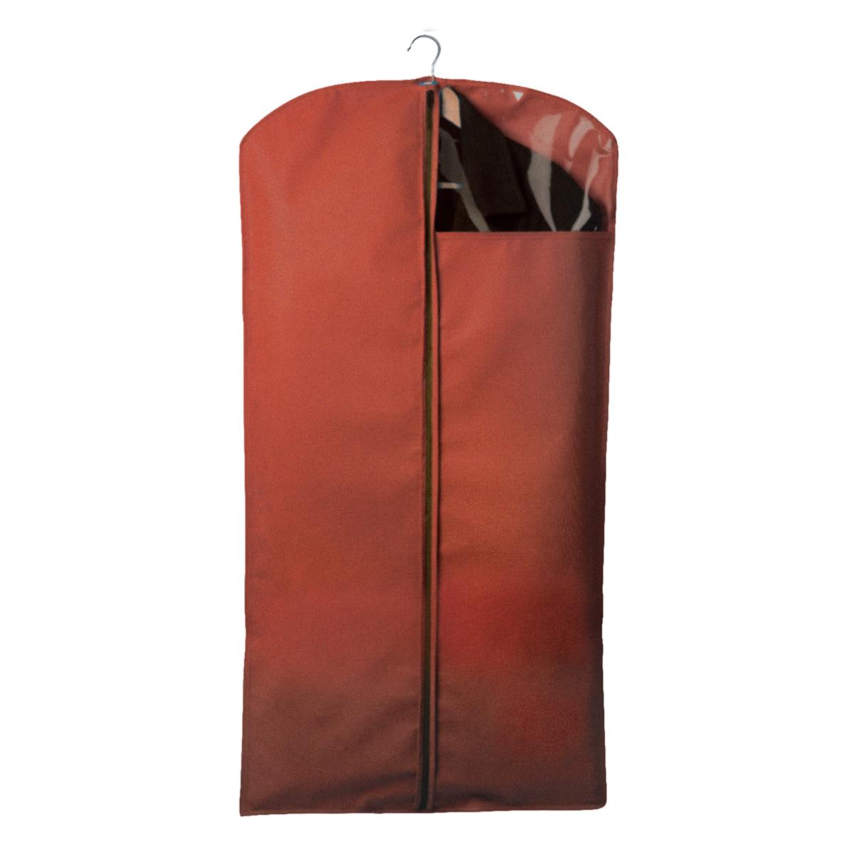 Чехол для одежды Miolla, с окошком, цвет: бордовый, 120 х 60 смCHL-2-2Чехол для костюмов и платьев Miolla на застежке-молнии выполнен из высококачественного нетканого материала. Прозрачное полиэтиленовое окошко позволяет видеть содержимое чехла. Подходит для длительного хранения вещей. Чехол обеспечивает вашей одежде надежную защиту от влажности, повреждений и грязи при транспортировке, от запыления при хранении и проникновения моли. Чехол обладает водоотталкивающими свойствами, а также позволяет воздуху свободно поступать внутрь вещей, обеспечивая их кондиционирование. Размер чехла: 120 х 60 см.