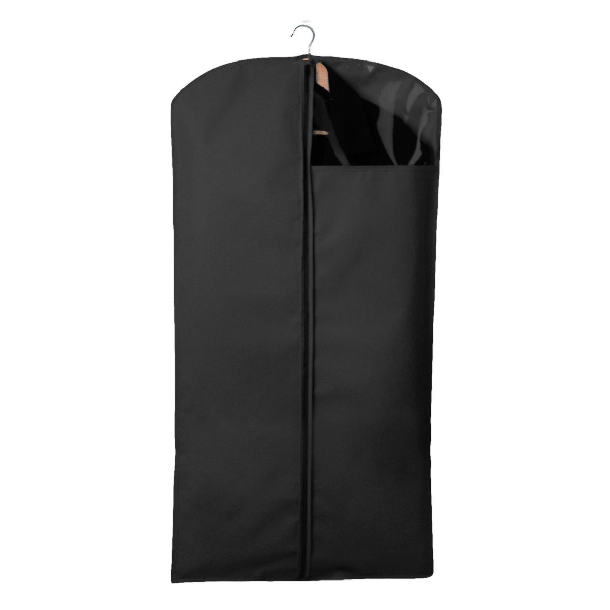 Чехол для одежды Miolla, с окошком, цвет: черный, 120 х 60 смCHL-2-3Чехол для костюмов и платьев Miolla на застежке-молнии выполнен из высококачественного нетканого материала. Прозрачное полиэтиленовое окошко позволяет видеть содержимое чехла. Подходит для длительного хранения вещей. Чехол обеспечивает вашей одежде надежную защиту от влажности, повреждений и грязи при транспортировке, от запыления при хранении и проникновения моли. Чехол обладает водоотталкивающими свойствами, а также позволяет воздуху свободно поступать внутрь вещей, обеспечивая их кондиционирование. Размер чехла: 120 х 60 см.