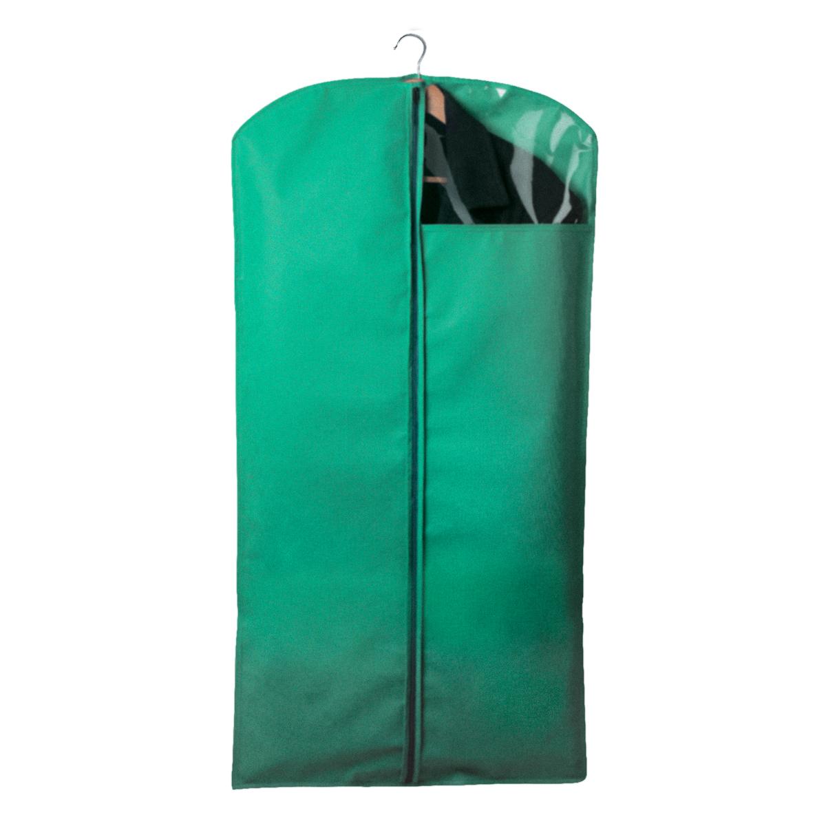 Чехол для одежды Miolla, с окошком, цвет: зеленый, 120 х 60 смCHL-2-5Чехол для костюмов и платьев Miolla на застежке-молнии выполнен из высококачественного нетканого материала. Прозрачное полиэтиленовое окошко позволяет видеть содержимое чехла. Подходит для длительного хранения вещей. Чехол обеспечивает вашей одежде надежную защиту от влажности, повреждений и грязи при транспортировке, от запыления при хранении и проникновения моли. Чехол обладает водоотталкивающими свойствами, а также позволяет воздуху свободно поступать внутрь вещей, обеспечивая их кондиционирование. Размер чехла: 120 х 60 см.