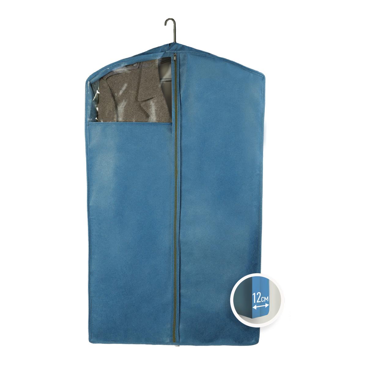 Чехол для верхней одежды Miolla, цвет: синий, 100 х 60 х 12 смCHL-3-1Чехол для верхней одежды 100 x 60 x 12 см cиний