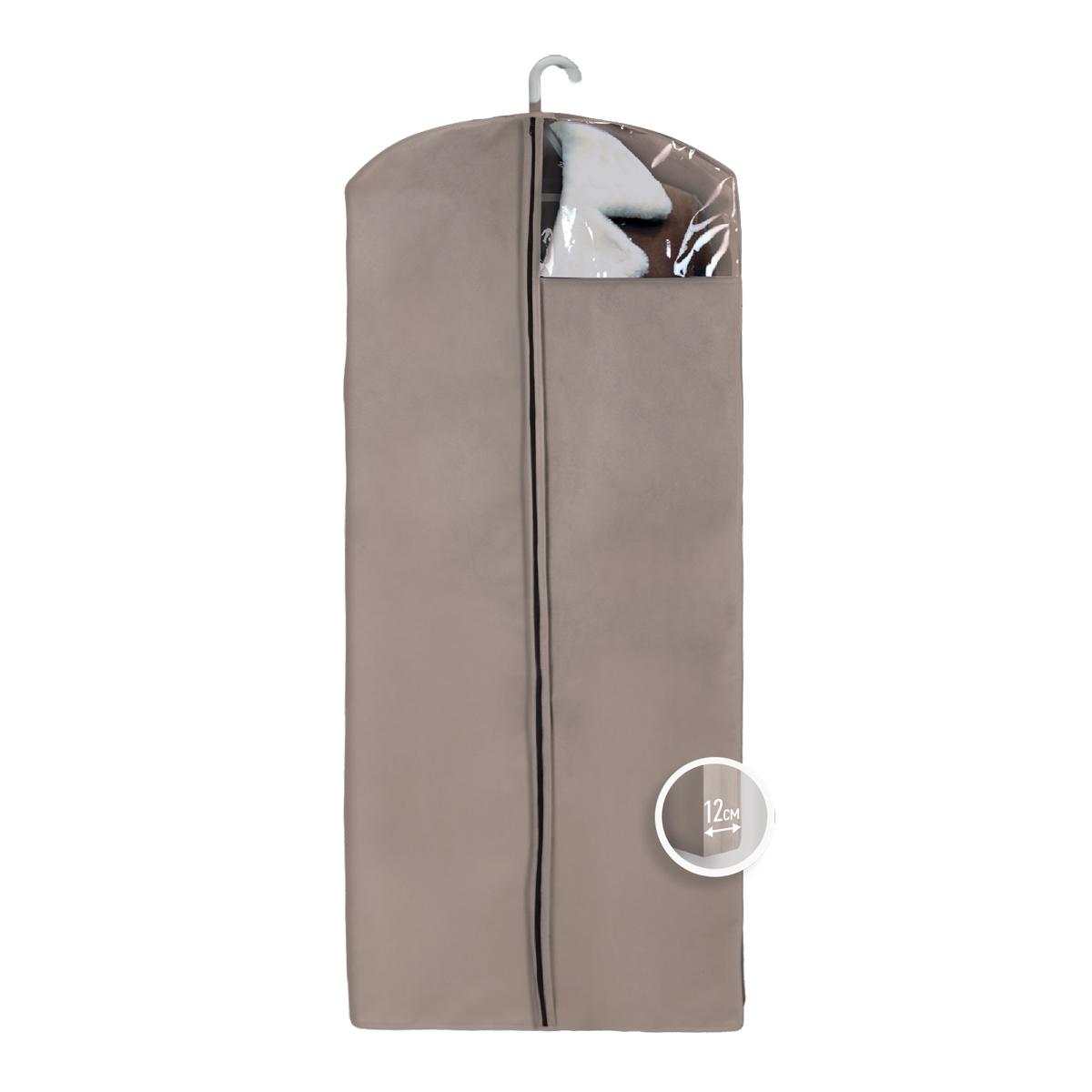 Чехол для верхней одежды Miolla, с окошком, цвет: бежевый, 140 х 60 х 12 смCHL-4-2Чехол для верхней одежды Miolla на застежке-молнии выполнен из высококачественного нетканого материала. Прозрачное полиэтиленовое окошко позволяет видеть содержимое чехла. Подходит для длительного хранения вещей. Чехол обеспечивает вашей одежде надежную защиту от влажности, повреждений и грязи при транспортировке, от запыления при хранении и проникновения моли. Чехол обладает водоотталкивающими свойствами, а также позволяет воздуху свободно поступать внутрь вещей, обеспечивая их кондиционирование. Это особенно важно при хранении кожаных и меховых изделий. Размер чехла: 140 х 60 х 12 см.