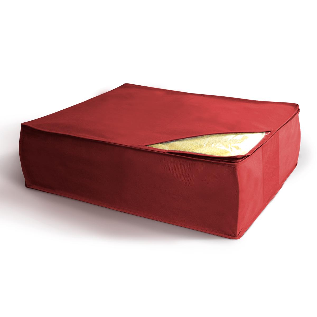 Кофр для хранения Miolla, цвет: бордовый, 50 х 58 х 19 смCHL-5-2Кофр для хранения одеял, подушек и пледов 50 x 58 x 19 см бордовый