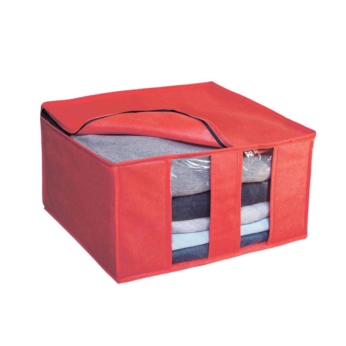 Кофр для хранения Miolla, цвет: коралловый, 40 х 40 х 25 смCHL-6-3Ящик раскладной для хранения вещей 40 x 40 x 25