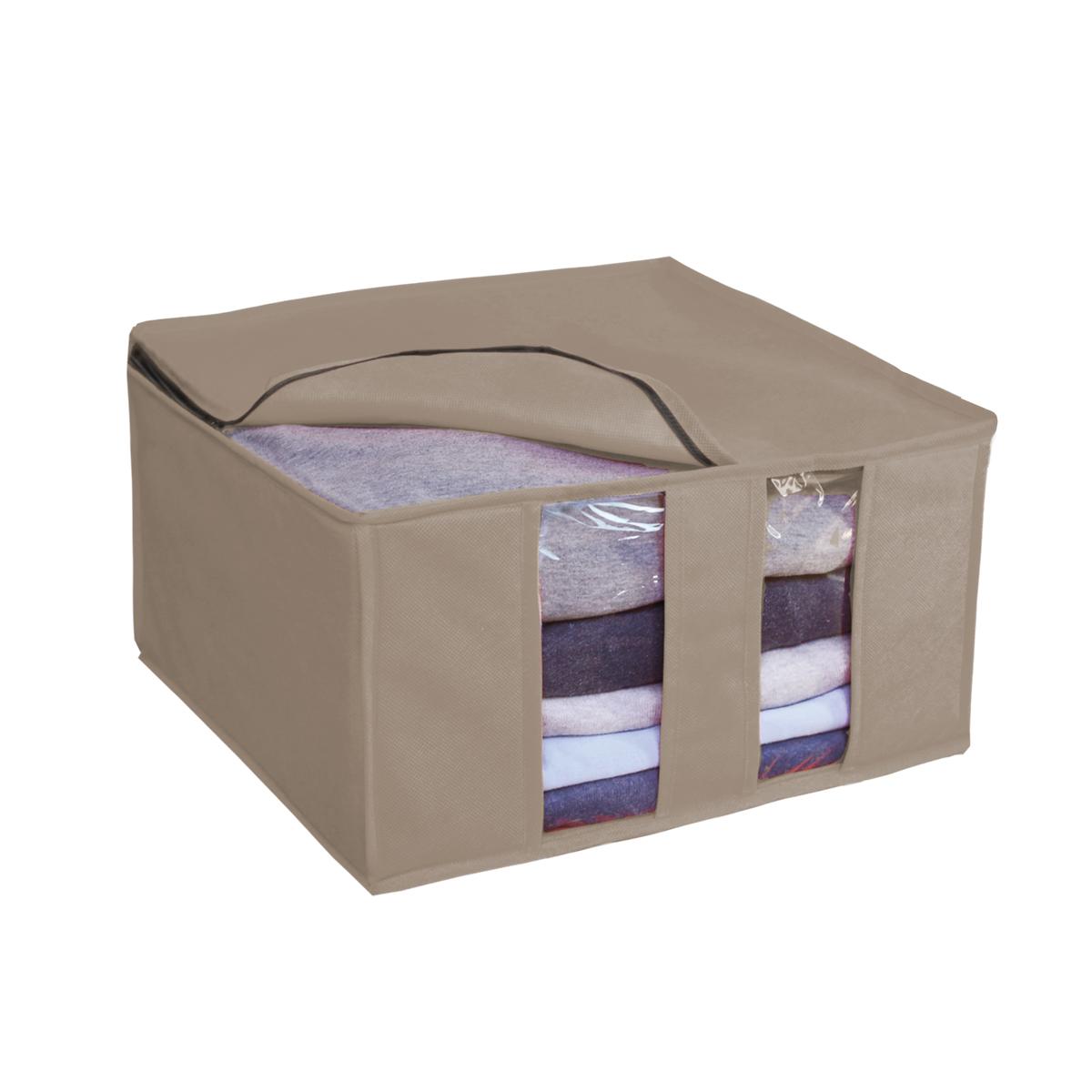 Кофр для хранения Miolla, цвет: бежевый, 40 х 40 х 25 смCHL-6-5Ящик раскладной для хранения вещей 40 x 40 x 25 см бежевый