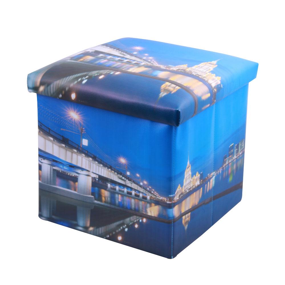 Пуф-короб для хранения Miolla, цвет: синий, 38 х 38 х 38 см. PSS-11PSS-11Пуф-корб для хранения 38x38x38. Максимальная нагрузка 200кг