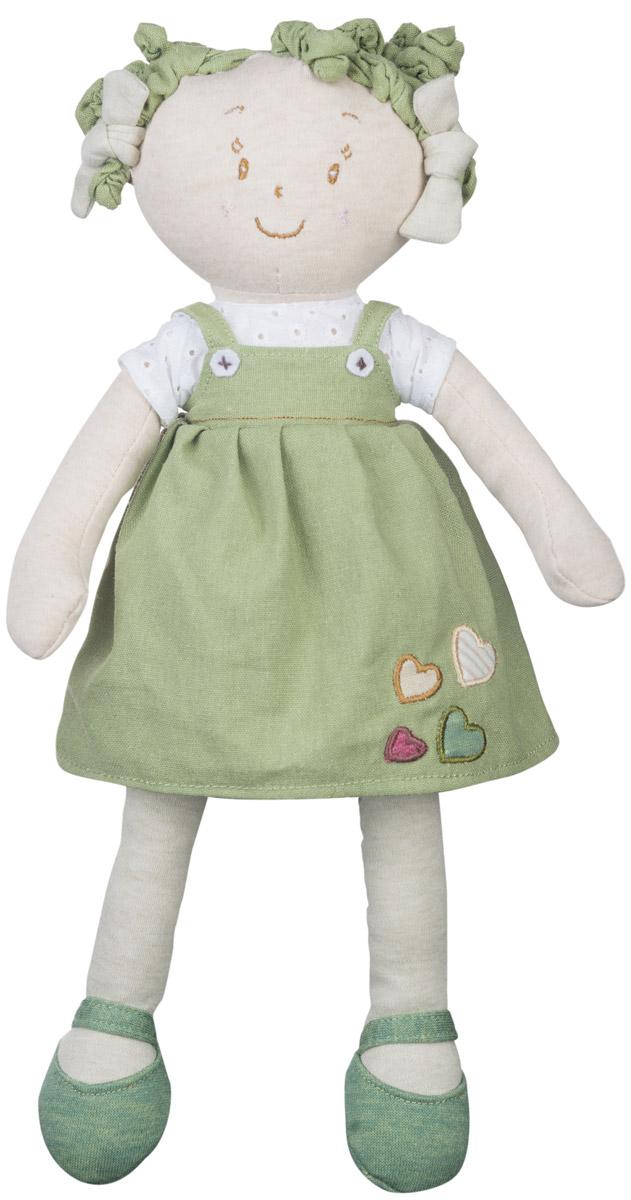 BabyOno Мягкая кукла Лили1254Мягкая кукла BabyOno Лили будет прекрасным подарком для самых маленьких девочек. Кукла одета в футболку и сарафан. Одежда у куклы снимается, ее можно переодевать. Смешные текстильные кудряшки на голове заинтересуют своей необычностью. Кукла выполнена в нежных и спокойных тонах - это положительно влияет на эмоциональное состояние ребенка. Разнообразные материалы игрушки поддерживают развитие сенсорной моторики ребенка. Кукла улыбается, у нее задорные вышитые глазки. Мягкая кукла BabyOno станет настоящим другом для вашей принцессы. Товар сертифицирован.