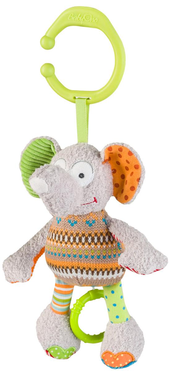 BabyOno Музыкальная игрушка-подвеска Забавный слоник1240Музыкальная игрушка-подвеска BabyOno Забавный слоник, выполненная из различных текстильных материалов легко крепится к коляске, кроватке или переноске благодаря пластиковому нецелевому кольцу. Приятная мелодия успокоит малыша, будет способствовать развитию слуха. Музыкальная игрушка-подвеска BabyOno Забавный слоник, поможет ребенку развить мелкую моторику рук, зрительное и слуховое восприятия, тактильные ощущения. Товар сертифицирован.
