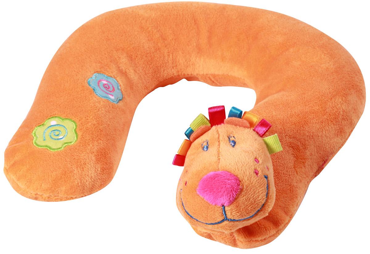 BabyOno Мягкая игрушка-подголовник Лев1180Малыши обычно быстро засыпают, когда почувствуют качание автомобиля. Хороший сон и правильное положение малыша на раннем этапе развития чрезвычайно важны. Поэтому стоит дополнительно защитить головку ребенка от падения. Мягкая игрушка-подголовник BabyOno Лев обеспечит ребенку удобство при поездке в автомобиле или коляске. Разгружает мышцы шеи ребенка при длительной поездке и обеспечивает удобный сон в автокресле. Подголовник не имеет никаких звуковых элементов, чтобы не нарушать сон ребенка. Предназначена игрушка-подушка для детей от 1 года. Товар сертифицирован.