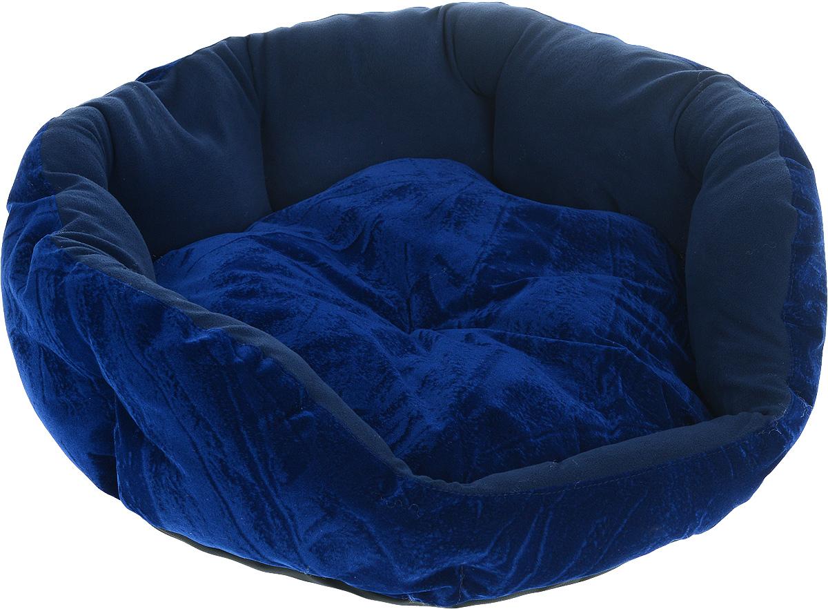 Лежак для животных ЗооМарк Цветочек, цвет: темно-синий, диаметр 64 смЛЦ-2Мягкий лежак для собак ЗооМарк Цветочек обязательно понравится вашему питомцу. Он выполнен из высококачественных материалов, а наполнитель из мягкого синтепуха. Такой материал не теряет своей формы долгое время. Высокие борта обеспечат вашему любимцу уют. Лежак оснащен съемной подстилкой. Лежак ЗооМарк Цветочек станет излюбленным местом вашего питомца, подарит ему спокойный и комфортный сон, а также убережет вашу мебель от многочисленной шерсти. Диаметр: 64 см. Высота: 19 см.