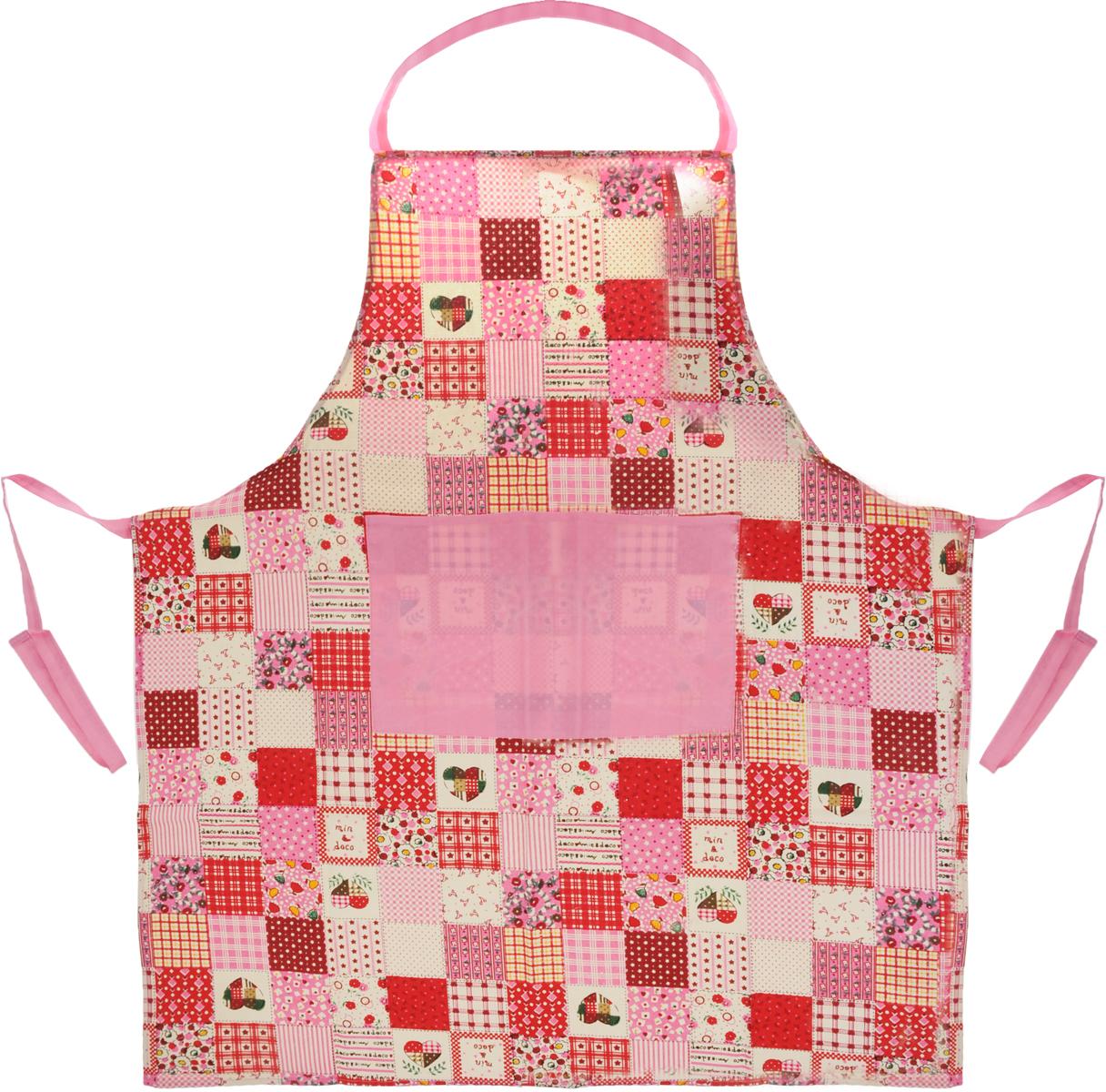"""Фартук Schaefer """"Яркие краски"""", цвет: розовый, красный, коричневый, 70 х 80 см"""