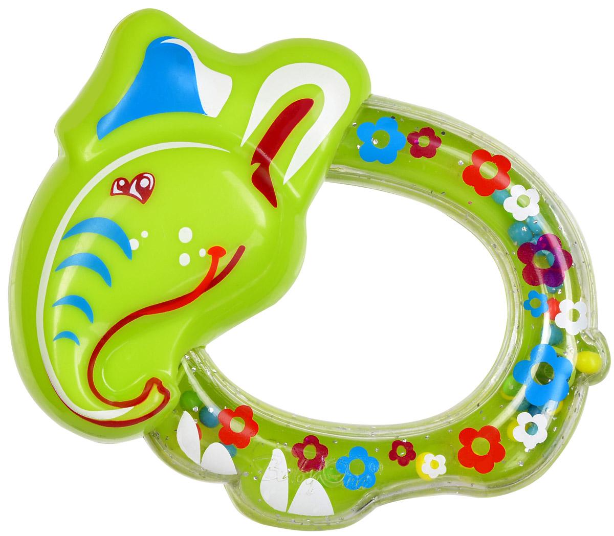 BabyOno Погремушка Слоненок1382Погремушка BabyOno Слоненок развивает осязательные, зрительные и двигательные способности, учит причинно-следственным связям. Игрушка наполнена цветными шариками, которые весело шумят при встряхивании. Малыш с удовольствием будет исследовать новую форму, наслаждаясь яркими цветами. Звуки погремушки развивают способность различать силу звука. Погремушка развивает моторику и мануальные способности ребенка, навыки захвата ладонью и перекладывания предметов из руки в руку. Легкая конструкция погремушки и ее форма рассчитаны для маленьких ручек ребенка. Не содержит бисфенол А. Товар сертифицирован.