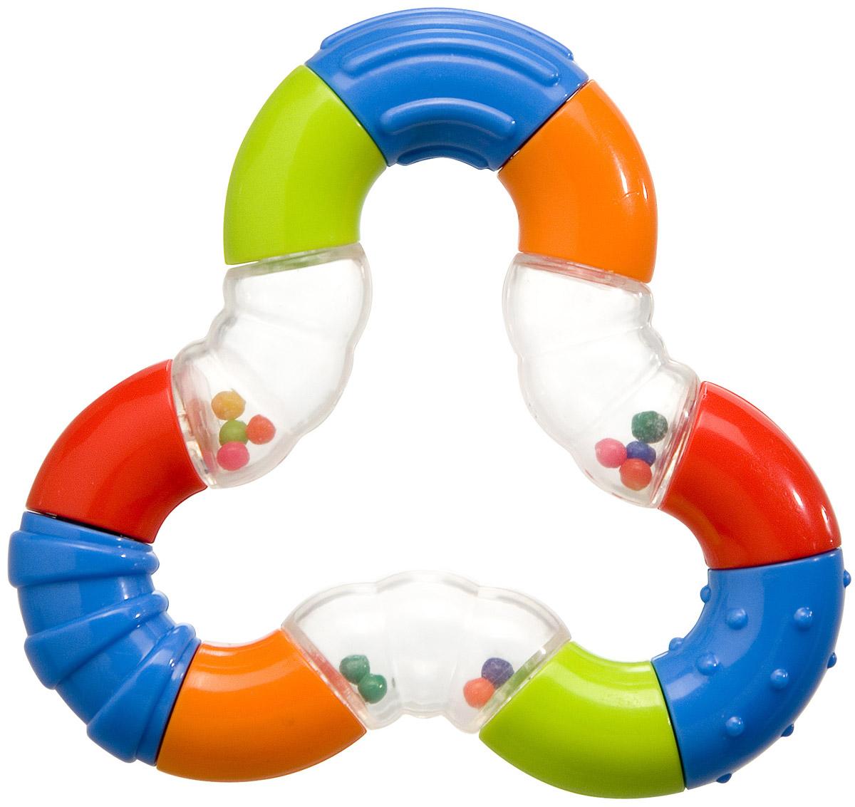 BabyOno Погремушка Магический треугольник665Погремушка BabyOno Магический треугольник развивает осязательные, зрительные и двигательные способности, учит причинно-следственным связям. Погремушка учит различать формы и цвета. Звуки погремушки развивают способность различать силу звука. Погремушка BabyOno Магический треугольник развивает моторику и мануальные способности ребенка, навыки захвата ладонью и перекладывания предметов из руки в руку. Легкая конструкция и форма погремушки рассчитаны для маленьких ручек ребенка. Товар сертифицирован.