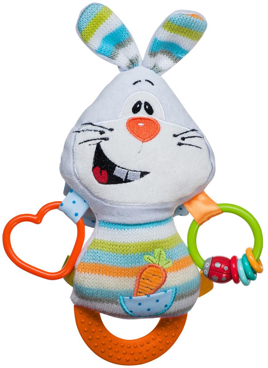 BabyOno Развивающая игрушка Кролик1387Развивающая игрушка BabyOno Кролик порадует вашего кроху. Забавный мягкий кролик не только развлекает, но и развивает. В ушах находятся шуршащие элементы, на теле - разноцветные ленточки. Нажав на голову кролика, малыш услышит забавный писк. Внизу игрушки находится прорезыватель. Изделие легко можно прикрепить к кроватке, коляске, автокреслу или игровой дуге малыша при помощи удобной застежки-липучки. Развивающая игрушка BabyOno Кролик поможет развить сенсорные, речевые способности ребенка и общую координацию его движений. Товар сертифицирован.