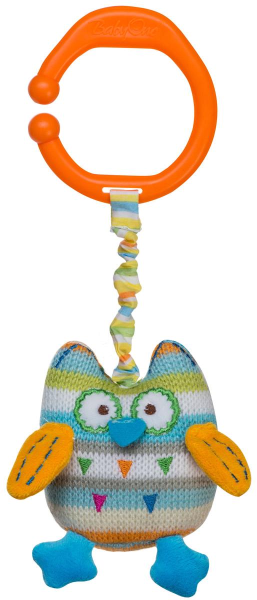 BabyOno Игрушка-подвеска Сова1393Яркая игрушка-подвеска BabyOno Сова, несомненно, придется по душе вашему малышу. Игрушка выполнена из текстильных материалов в виде милой совы. Внутри туловища игрушки расположен колокольчик, звенящий при тряске, а в крылышках - шуршащий элемент. К голове совы крепится веревочка, потянув за которую игрушка начнет вибрировать до тех пор, пока веревочка не вернется в исходное положение. С помощью незамкнутого пластикового кольца игрушку легко можно прикрепить к детской кроватке, коляске или автомобильному креслу. Игрушка-подвеска BabyOno Сова поможет развить у малыша мелкую моторику рук, звуковое и зрительное восприятия, тактильные ощущения, координацию движений, а милый жизнерадостный образ подарит малышу хорошее настроение! Товар сертифицирован.