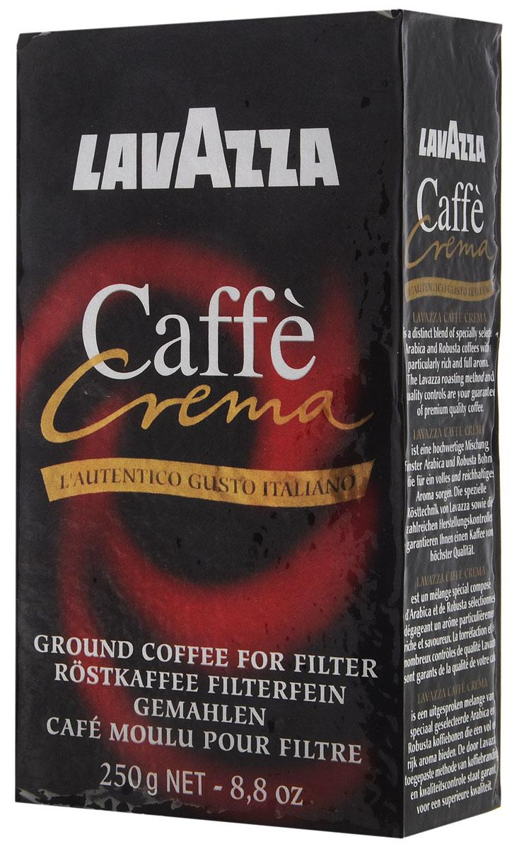 Lavazza Caffe Crema кофе молотый, 250 г8000070028012Кофе Lavazza Caffe Crema обладает стойким ароматом Африканской, Восточно-Азиатской Робусты и Бразильской Арабики высочайшего качества. Специальный купаж и помол позволяют получить сладкий насыщенный эспрессо с устойчивой густой пенкой и длительным послевкусием.
