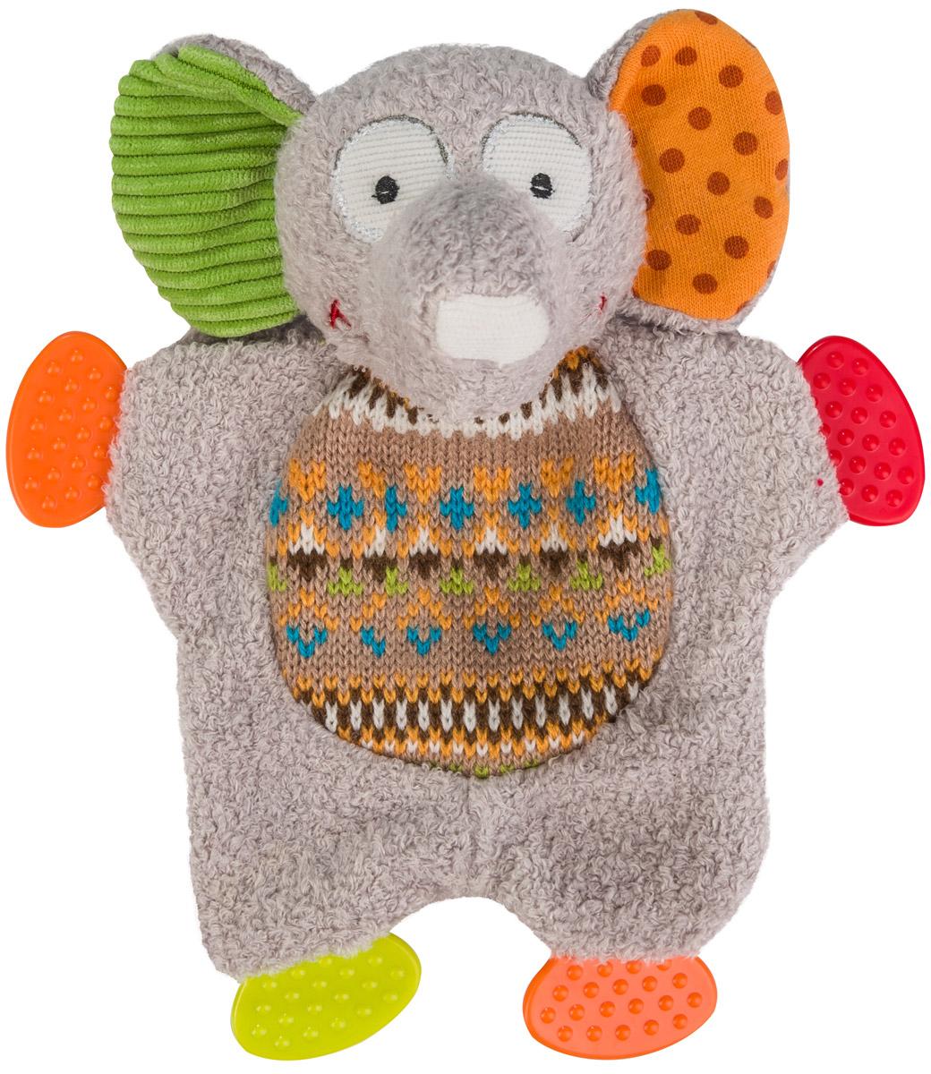 BabyOno Развивающая игрушка Забавный слоненок1241Развивающая игрушка BabyOno Забавный слоненок обязательно привлечет внимание вашего малыша. Игрушка выполнена из безопасных и приятных на ощупь материалов в виде веселого слоника. На лапках располагаются прорезыватели, которые помогут ребенку в период прорезывания первых зубов. В голове игрушке находится сфера, звенящая при тряске. Развивающая игрушка BabyOno Забавный слоненок поможет развить сенсорные, речевые способности ребенка и общую координацию его движений. Товар сертифицирован.