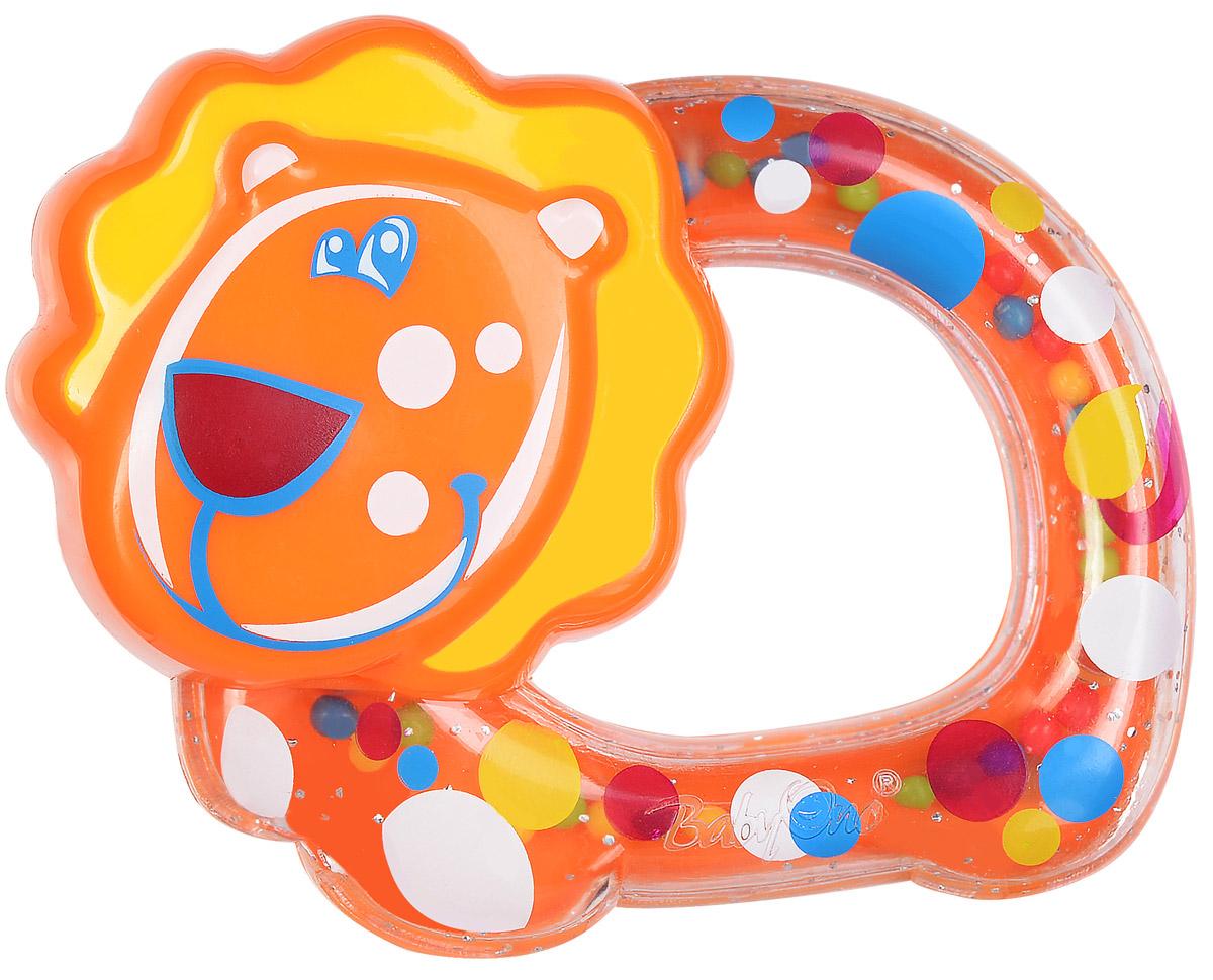 BabyOno Погремушка Львенок1381Погремушка BabyOno Львенок развивает осязательные, зрительные и двигательные способности, учит причинно-следственным связям. Игрушка наполнена цветными шариками, которые весело шумят при встряхивании. Малыш с удовольствием будет исследовать новую форму, наслаждаясь яркими цветами. Звуки погремушки развивают способность различать силу звука. Погремушка развивает моторику и мануальные способности ребенка, навыки захвата ладонью и перекладывания предметов из руки в руку. Легкая конструкция погремушки и ее форма рассчитаны для маленьких ручек ребенка. Не содержит бисфенол А. Товар сертифицирован.