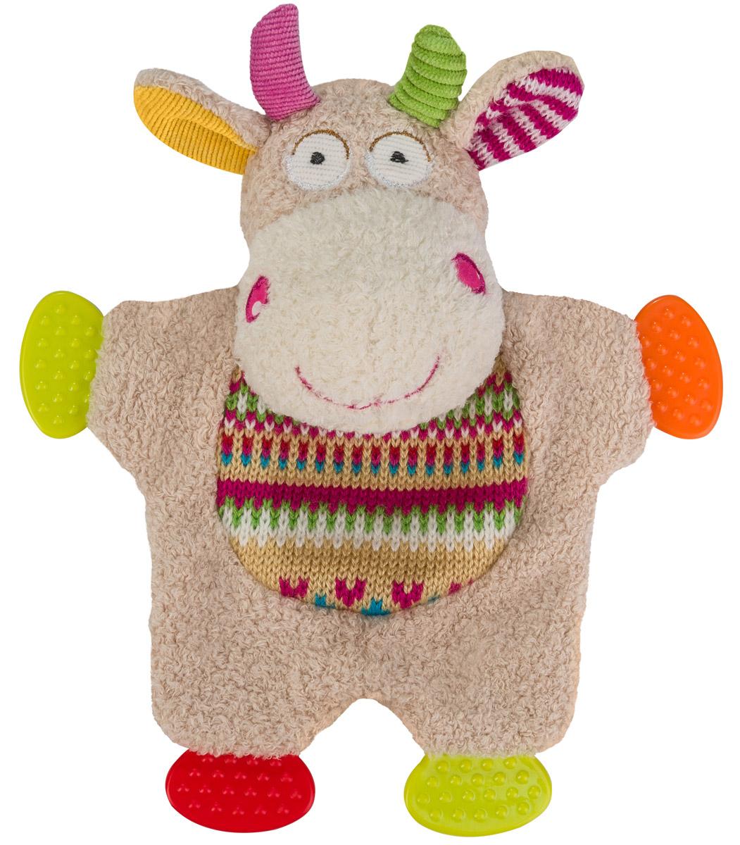 BabyOno Развивающая игрушка Забавная коровка1243Развивающая игрушка BabyOno Забавная коровка обязательно привлечет внимание вашего малыша. Игрушка выполнена из безопасных и приятных на ощупь материалов. На лапках коровы располагаются прорезыватели, которые помогут ребенку в период прорезывания первых зубов. В голове игрушке находится сфера, звенящая при тряске. Развивающая игрушка BabyOno Забавная коровка поможет развить сенсорные, речевые способности ребенка и общую координацию его движений. Товар сертифицирован.